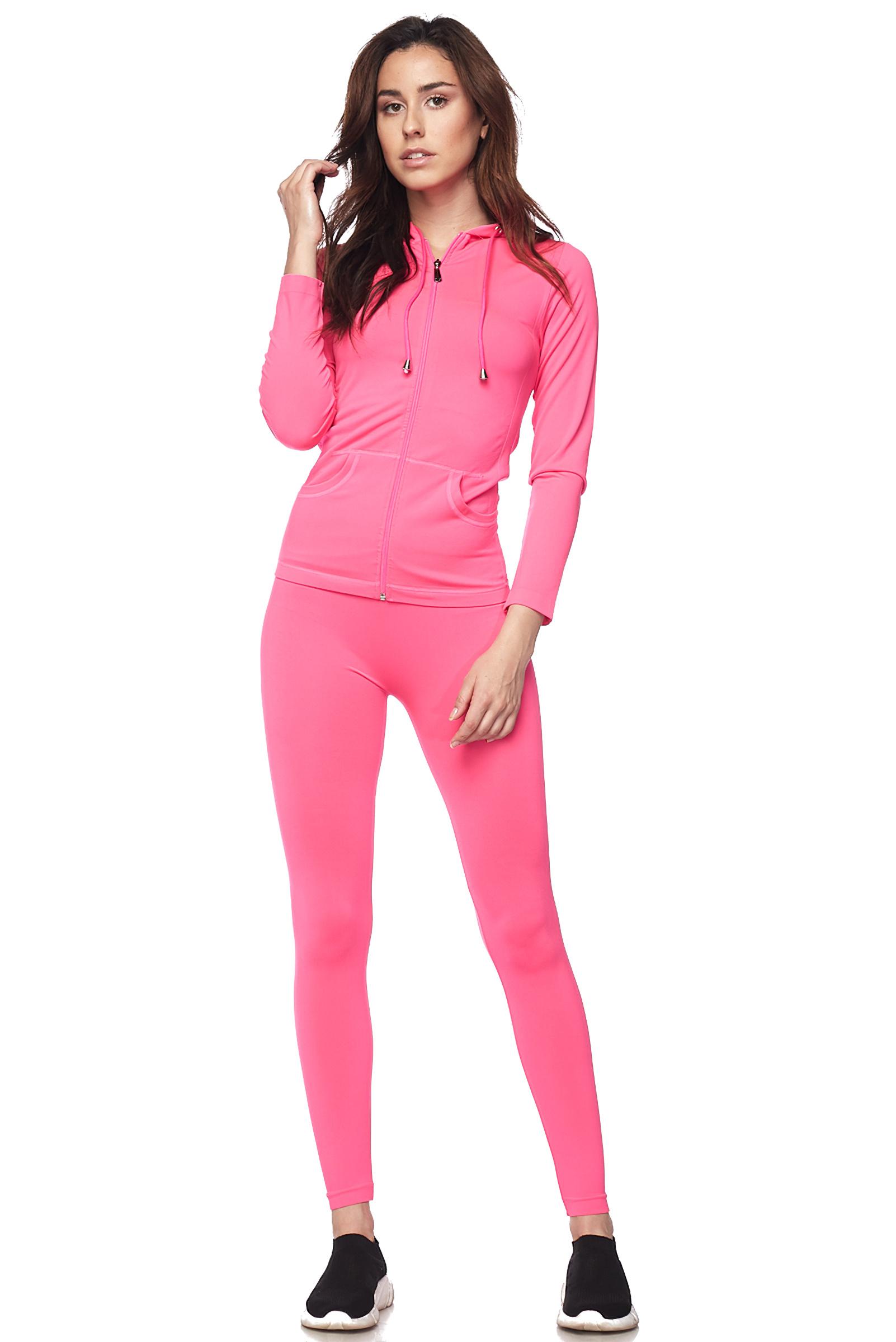 Women-039-s-Juniors-Active-Set-Wear-Zip-Up-Hoodie-and-Legging thumbnail 29