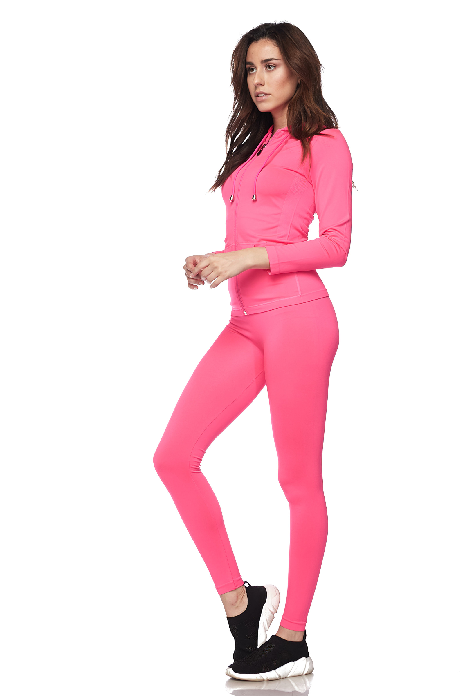 Women-039-s-Juniors-Active-Set-Wear-Zip-Up-Hoodie-and-Legging thumbnail 28