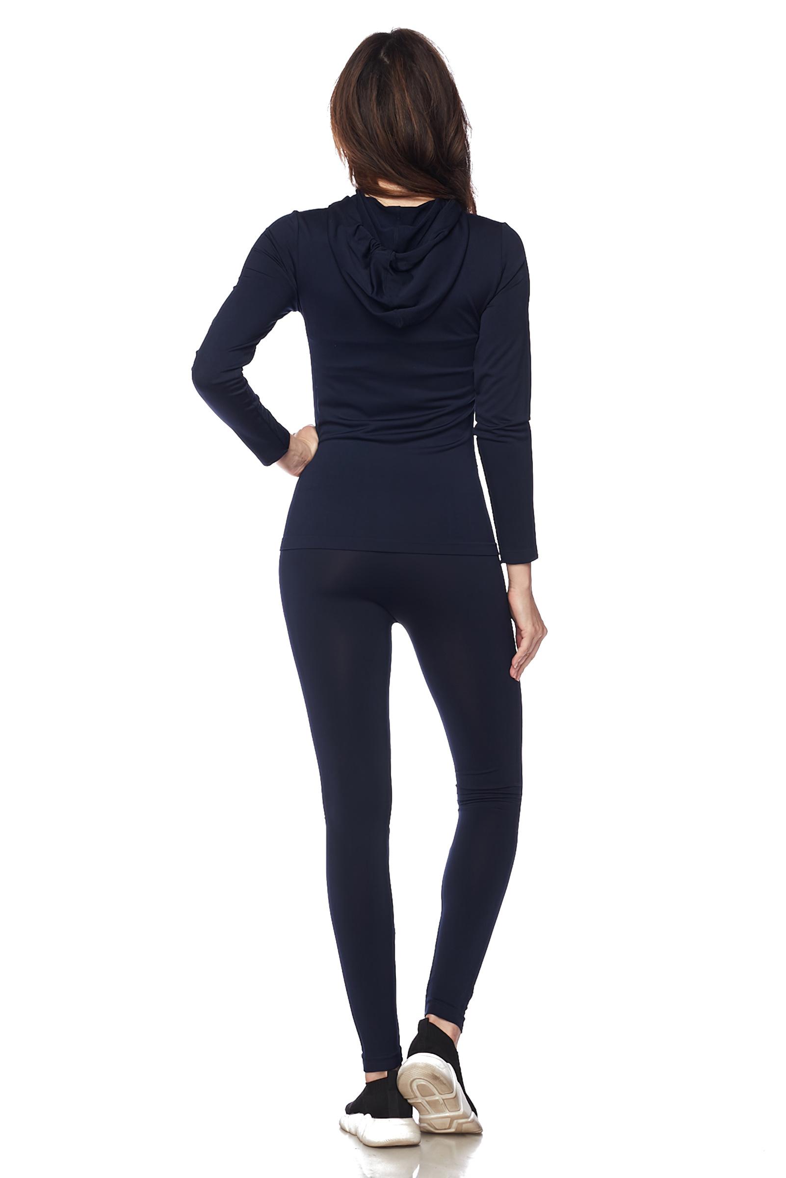 Women-039-s-Juniors-Active-Set-Wear-Zip-Up-Hoodie-and-Legging thumbnail 26