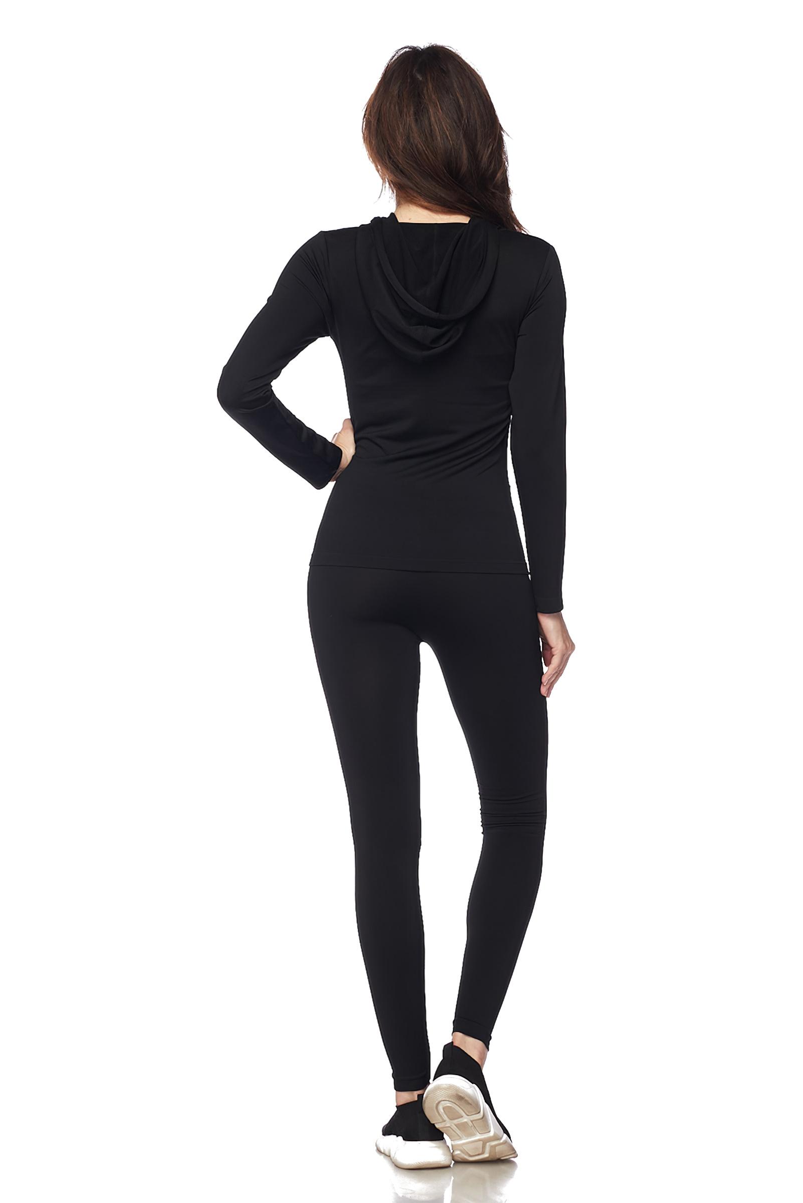 Women-039-s-Juniors-Active-Set-Wear-Zip-Up-Hoodie-and-Legging thumbnail 10