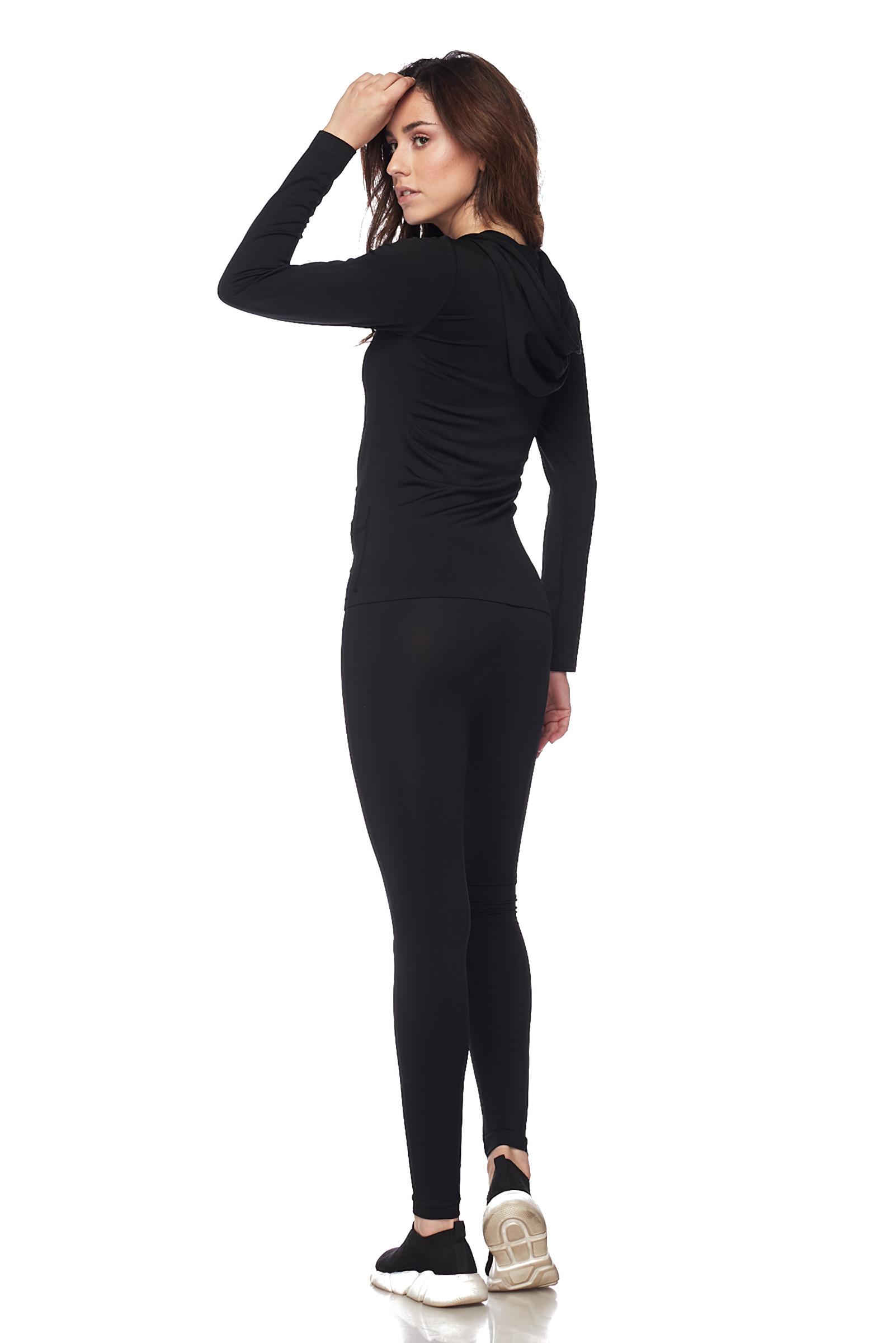 Women-039-s-Juniors-Active-Set-Wear-Zip-Up-Hoodie-and-Legging thumbnail 11