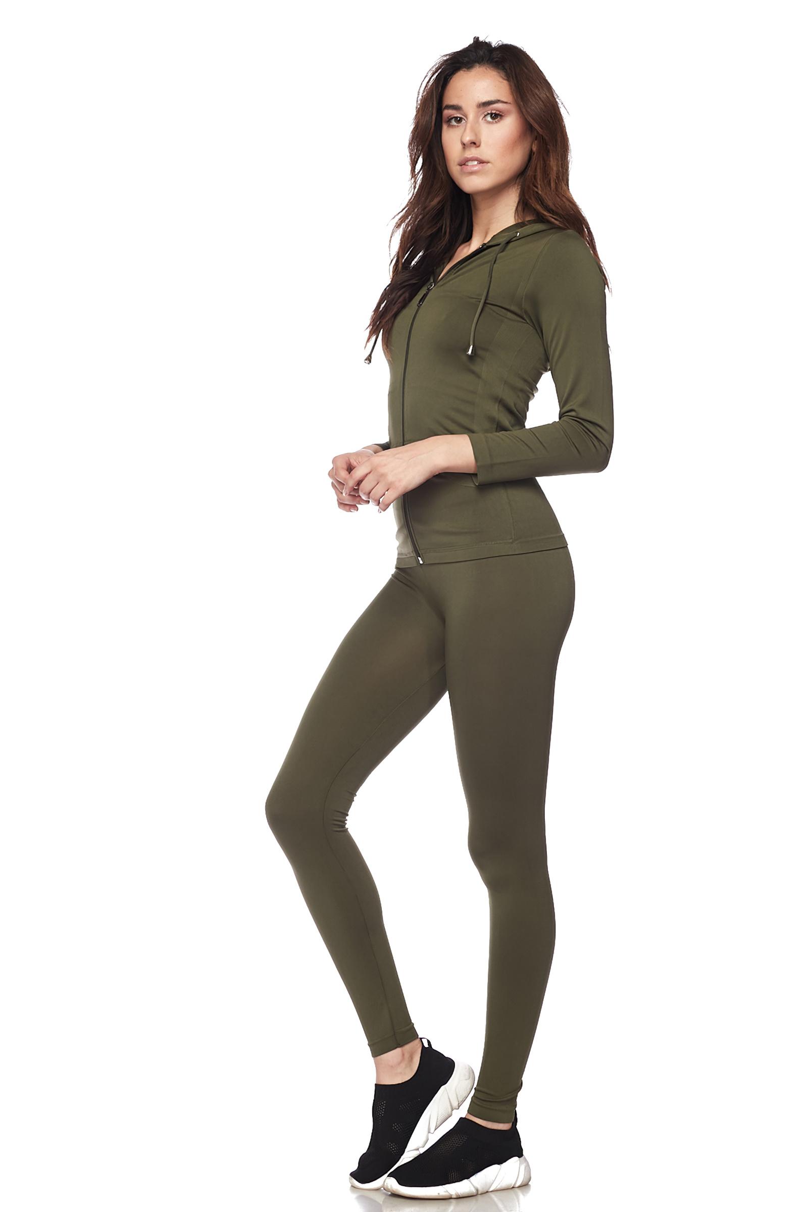 Women-039-s-Juniors-Active-Set-Wear-Zip-Up-Hoodie-and-Legging thumbnail 33