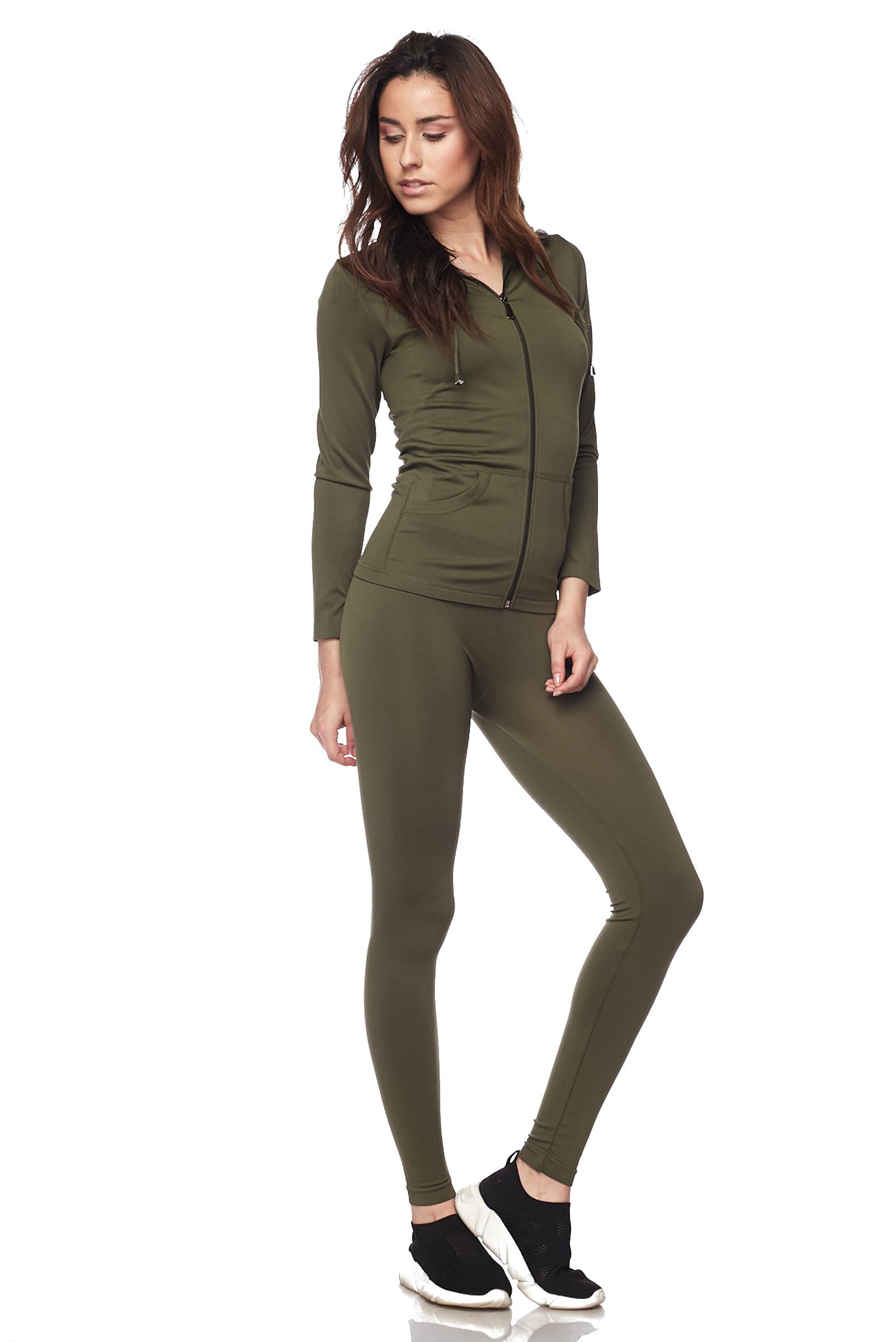 Women-039-s-Juniors-Active-Set-Wear-Zip-Up-Hoodie-and-Legging thumbnail 34