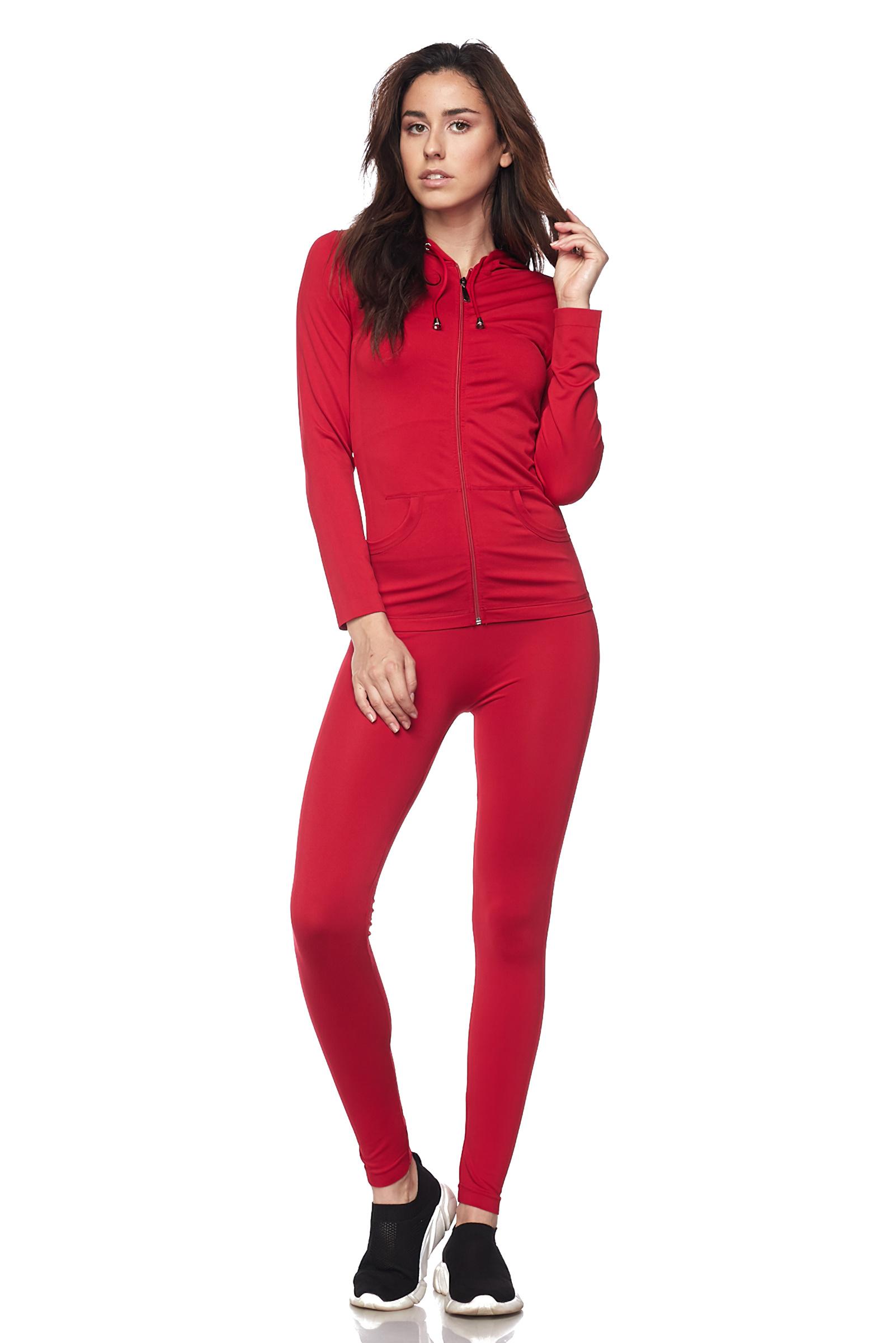 Women-039-s-Juniors-Active-Set-Wear-Zip-Up-Hoodie-and-Legging thumbnail 39