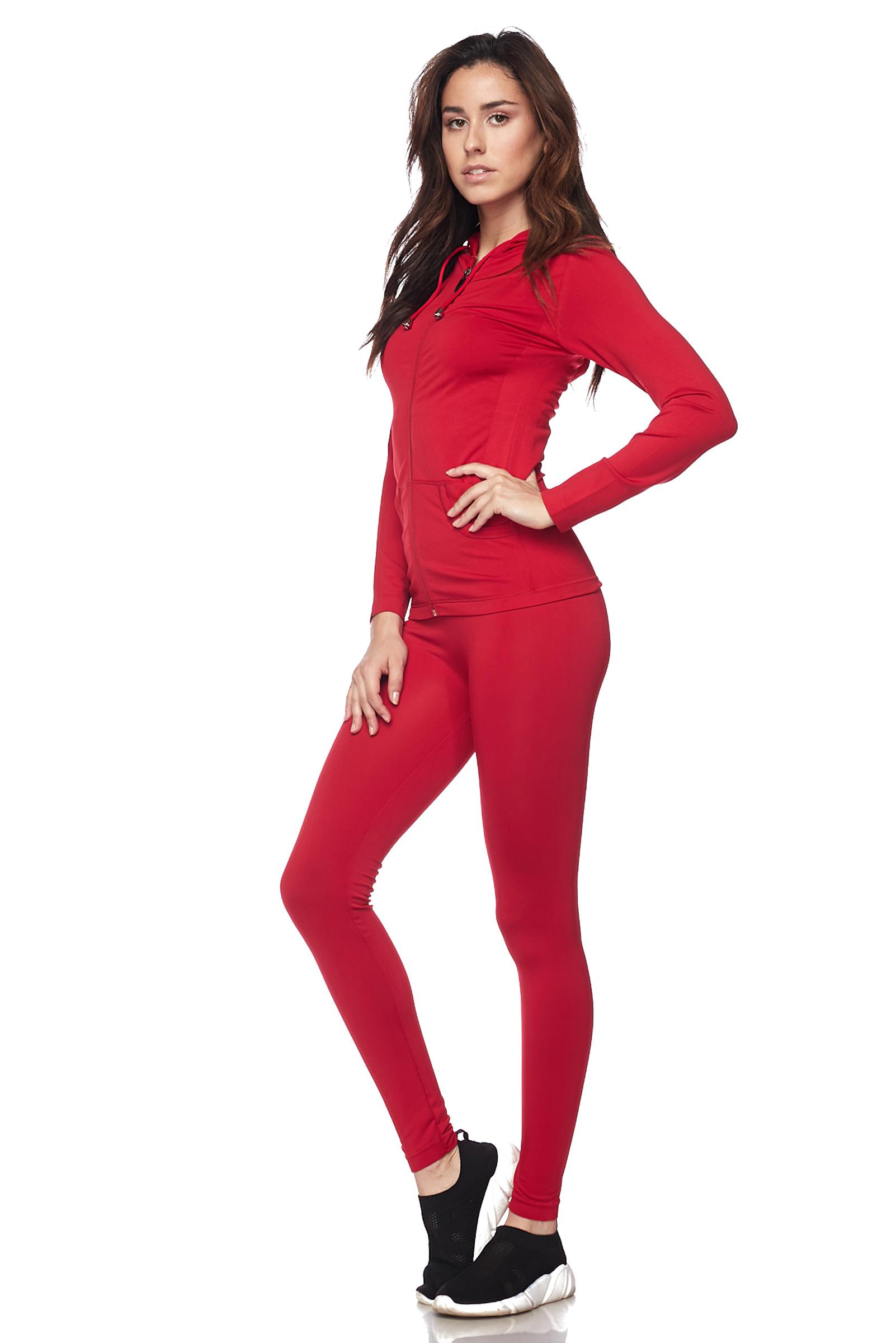 Women-039-s-Juniors-Active-Set-Wear-Zip-Up-Hoodie-and-Legging thumbnail 38