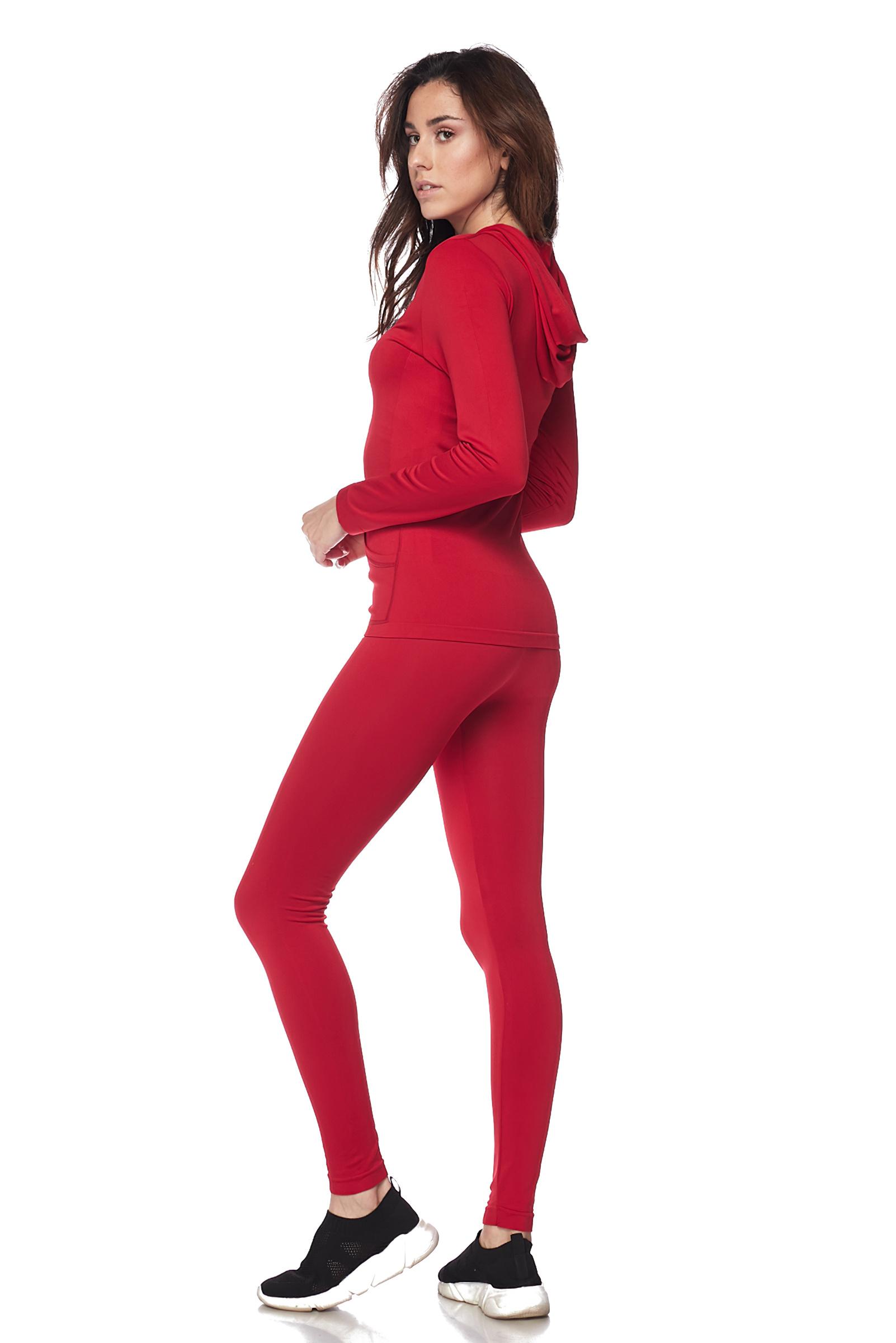 Women-039-s-Juniors-Active-Set-Wear-Zip-Up-Hoodie-and-Legging thumbnail 40