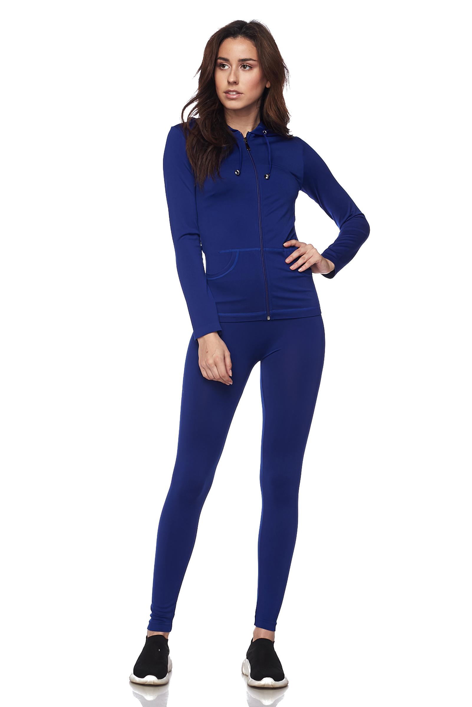 Women-039-s-Juniors-Active-Set-Wear-Zip-Up-Hoodie-and-Legging thumbnail 44