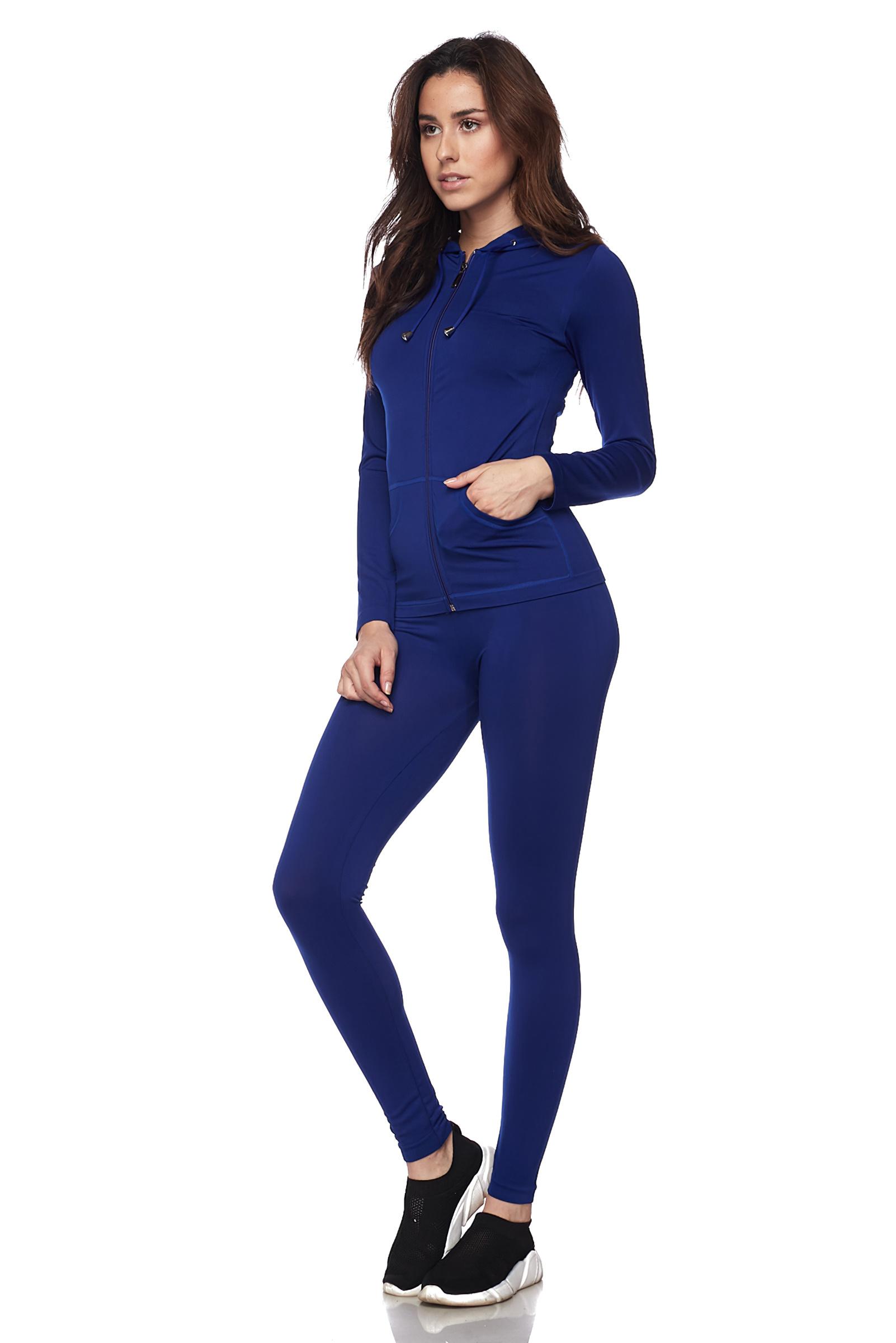 Women-039-s-Juniors-Active-Set-Wear-Zip-Up-Hoodie-and-Legging thumbnail 45