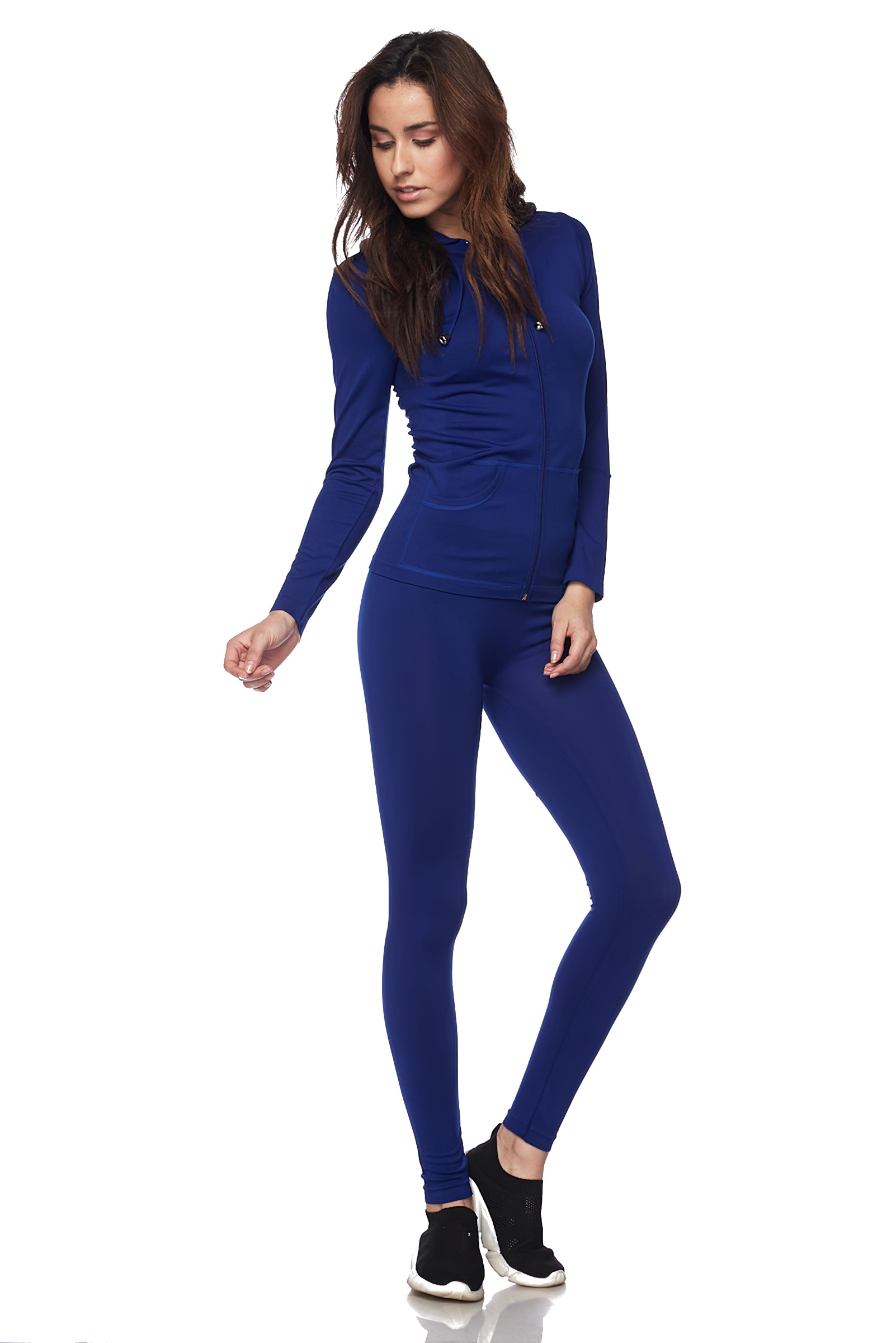 Women-039-s-Juniors-Active-Set-Wear-Zip-Up-Hoodie-and-Legging thumbnail 46
