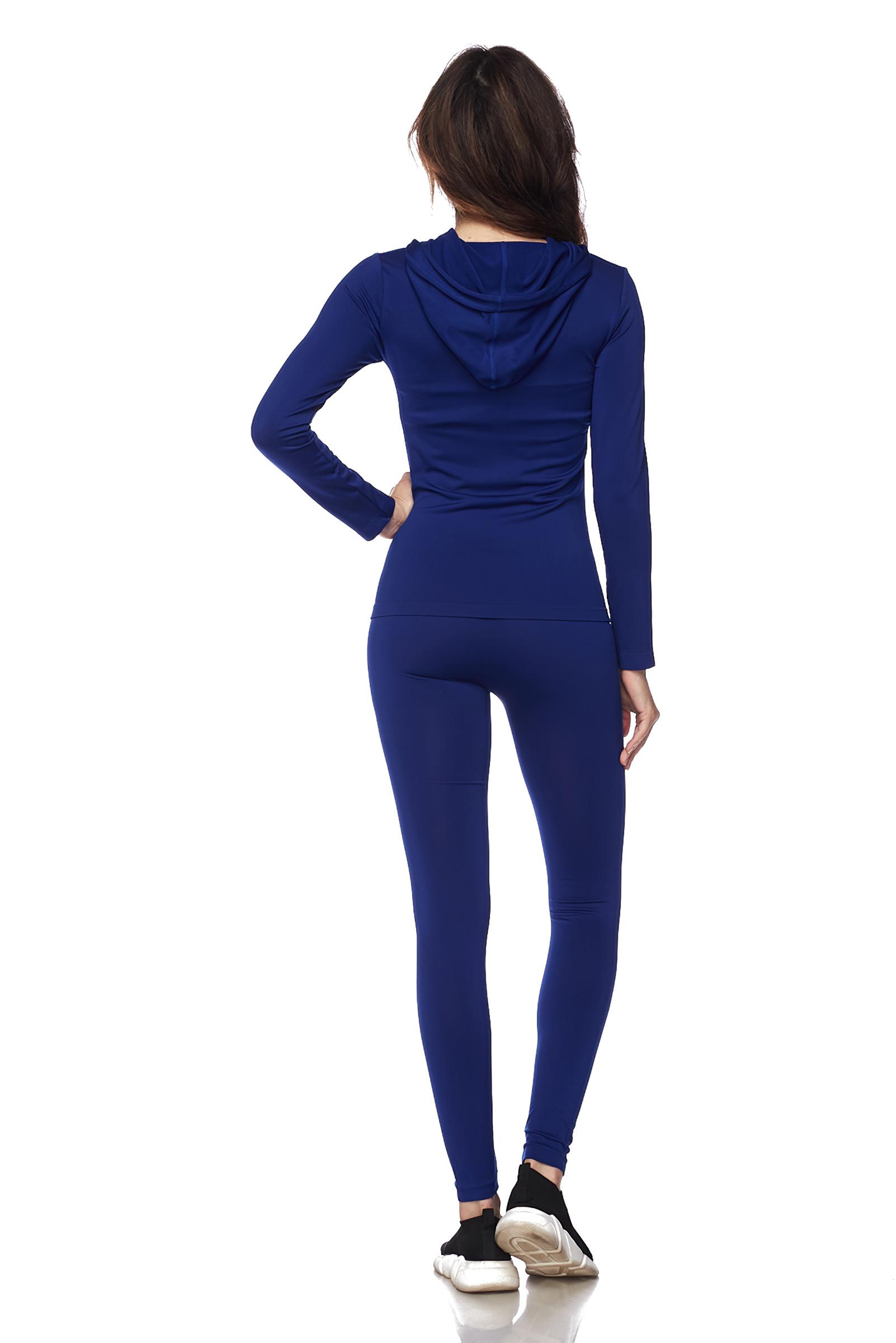 Women-039-s-Juniors-Active-Set-Wear-Zip-Up-Hoodie-and-Legging thumbnail 48