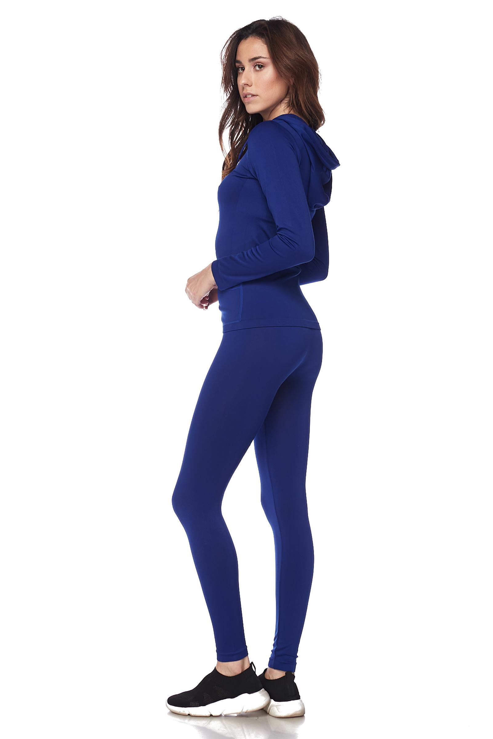 Women-039-s-Juniors-Active-Set-Wear-Zip-Up-Hoodie-and-Legging thumbnail 47