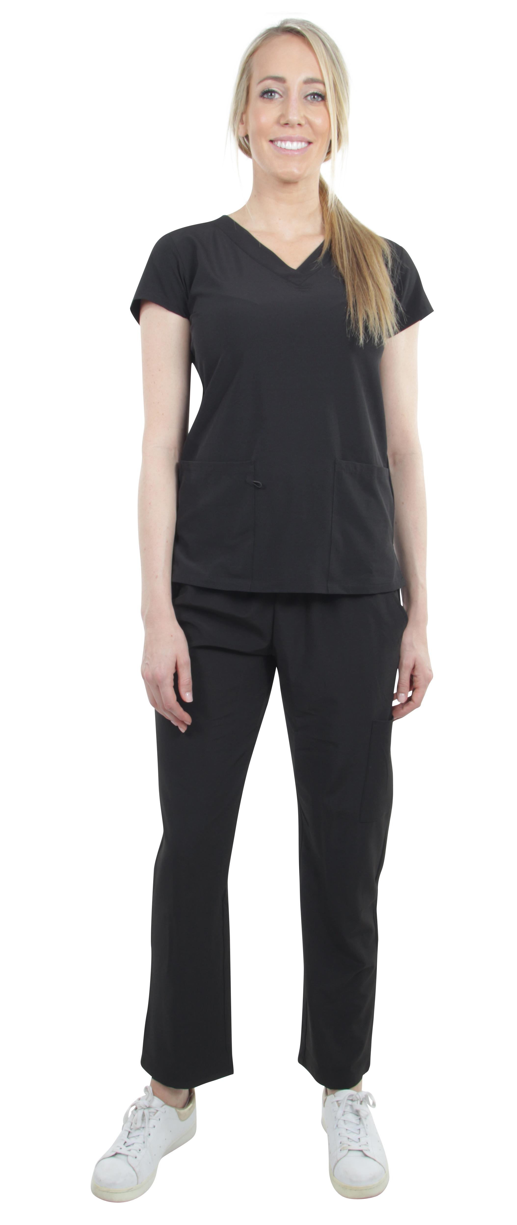 Unisex-Performance-Stretch-Medical-Uniform-Five-Pockets-V-Neck-Scrubs-Sets thumbnail 13