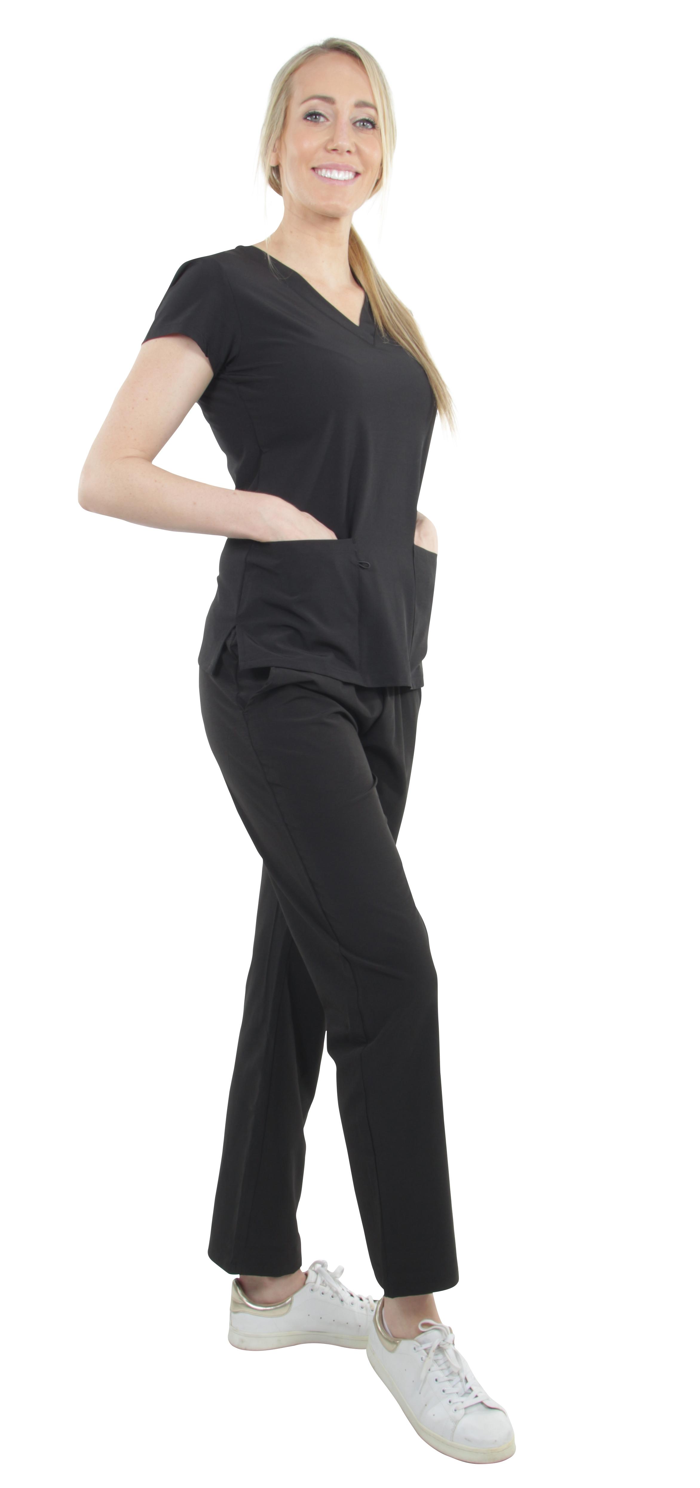 Unisex-Performance-Stretch-Medical-Uniform-Five-Pockets-V-Neck-Scrubs-Sets miniature 14