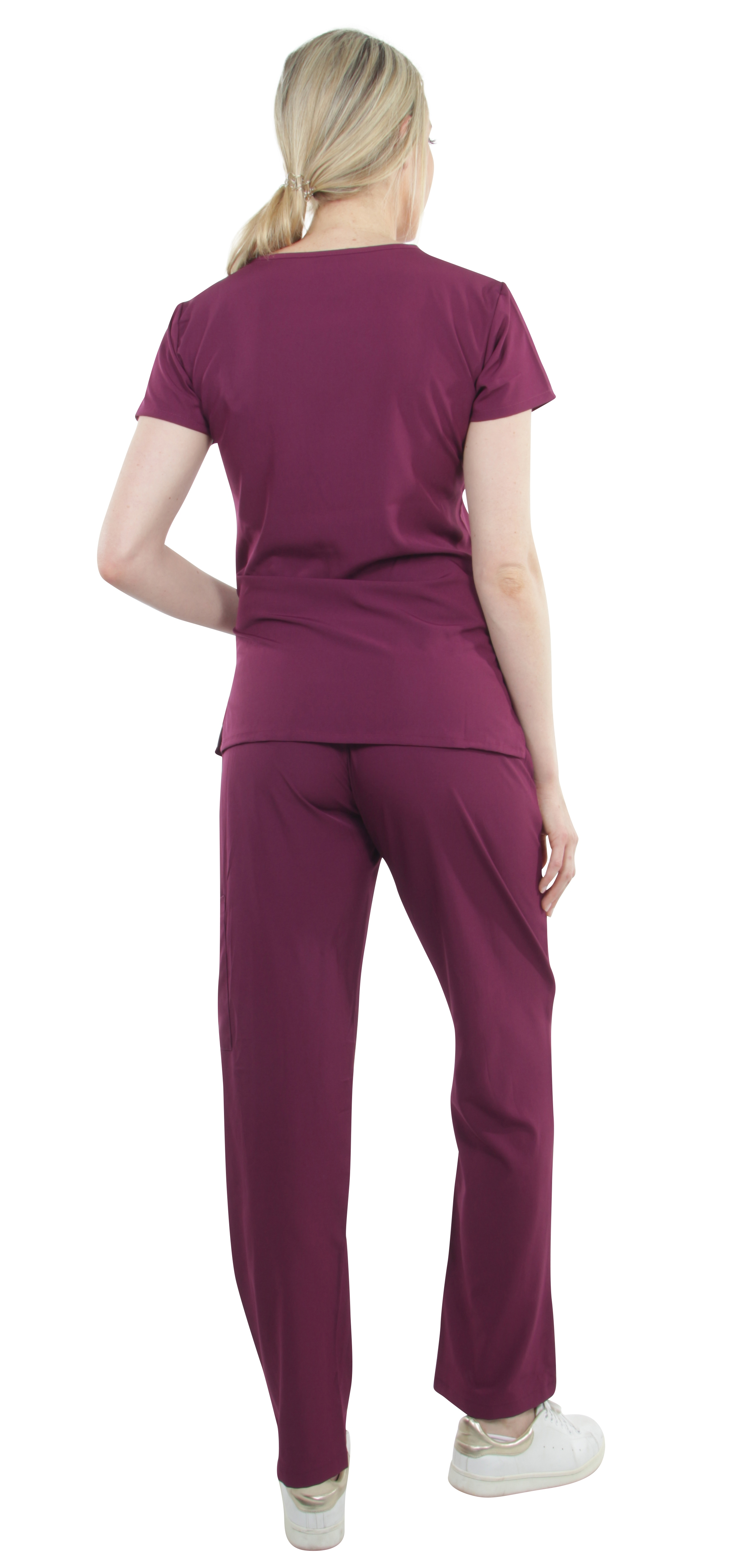 Unisex-Performance-Stretch-Medical-Uniform-Five-Pockets-V-Neck-Scrubs-Sets miniature 11