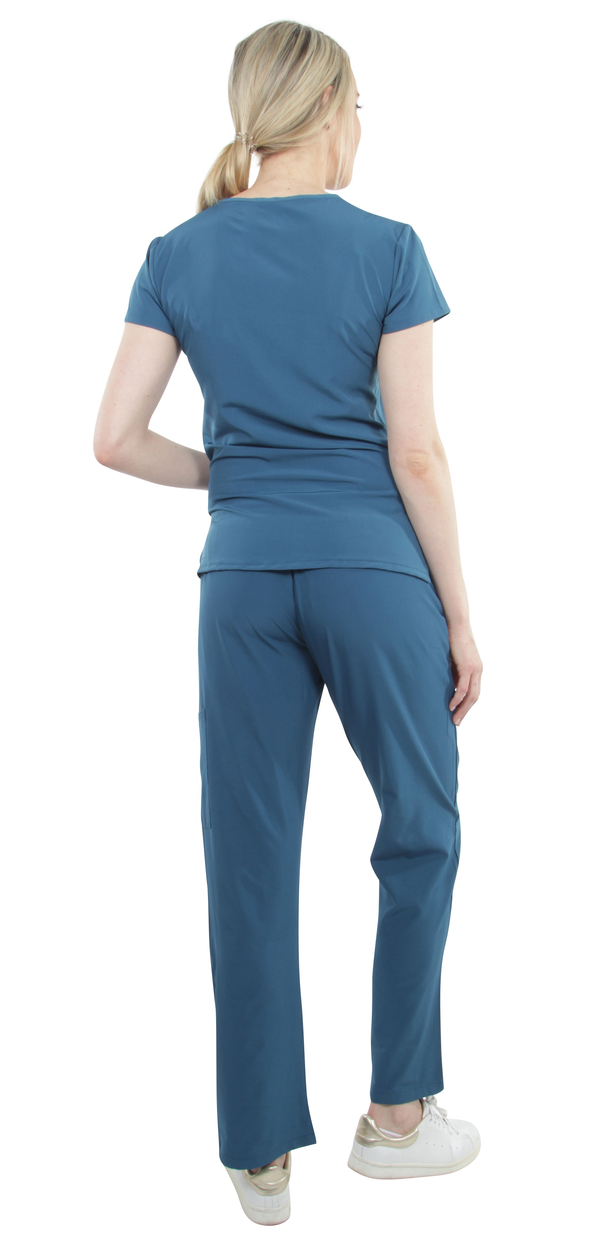 Unisex-Performance-Stretch-Medical-Uniform-Five-Pockets-V-Neck-Scrubs-Sets thumbnail 21
