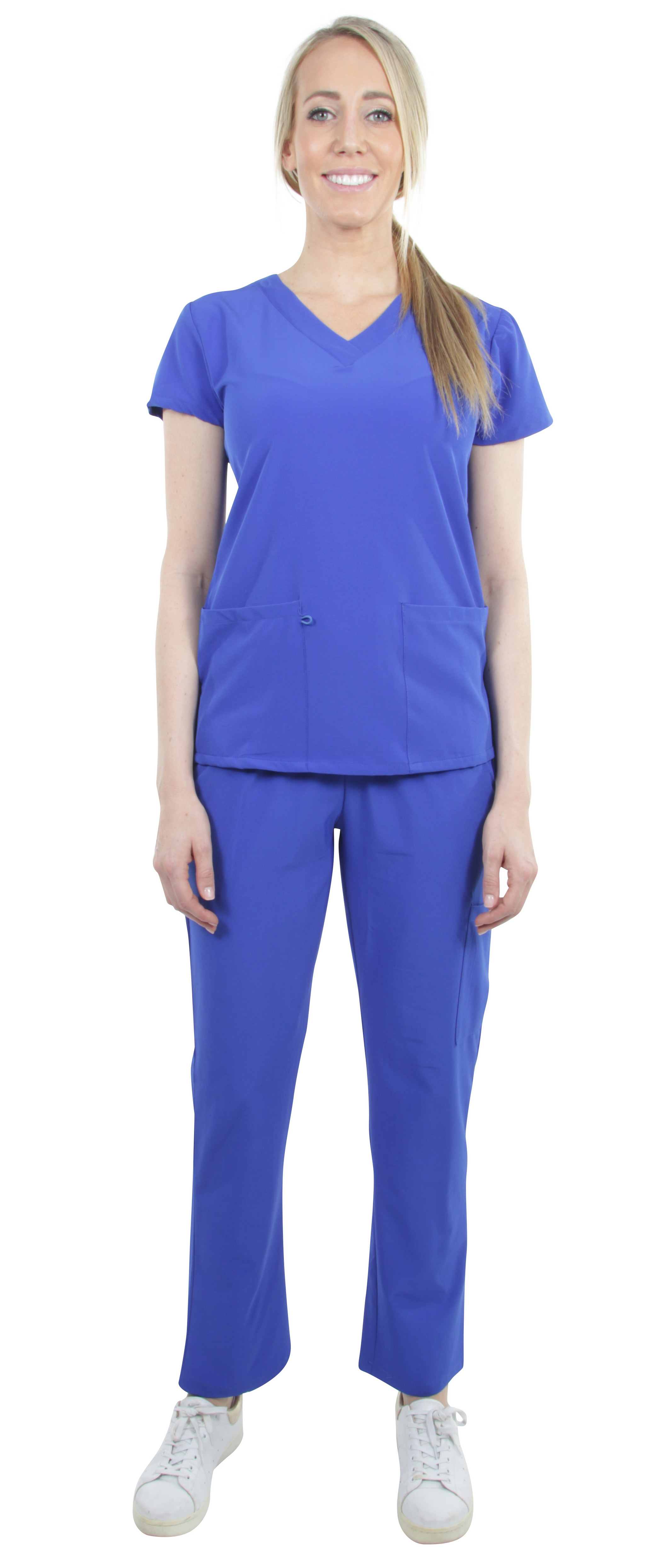 Unisex-Performance-Stretch-Medical-Uniform-Five-Pockets-V-Neck-Scrubs-Sets thumbnail 25