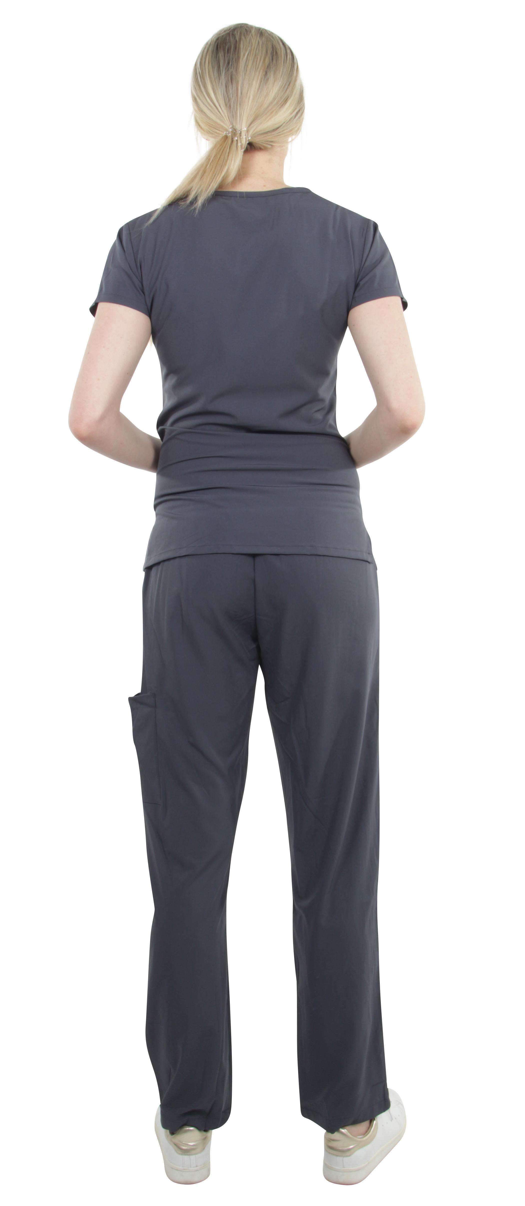 Unisex-Performance-Stretch-Medical-Uniform-Five-Pockets-V-Neck-Scrubs-Sets miniature 48
