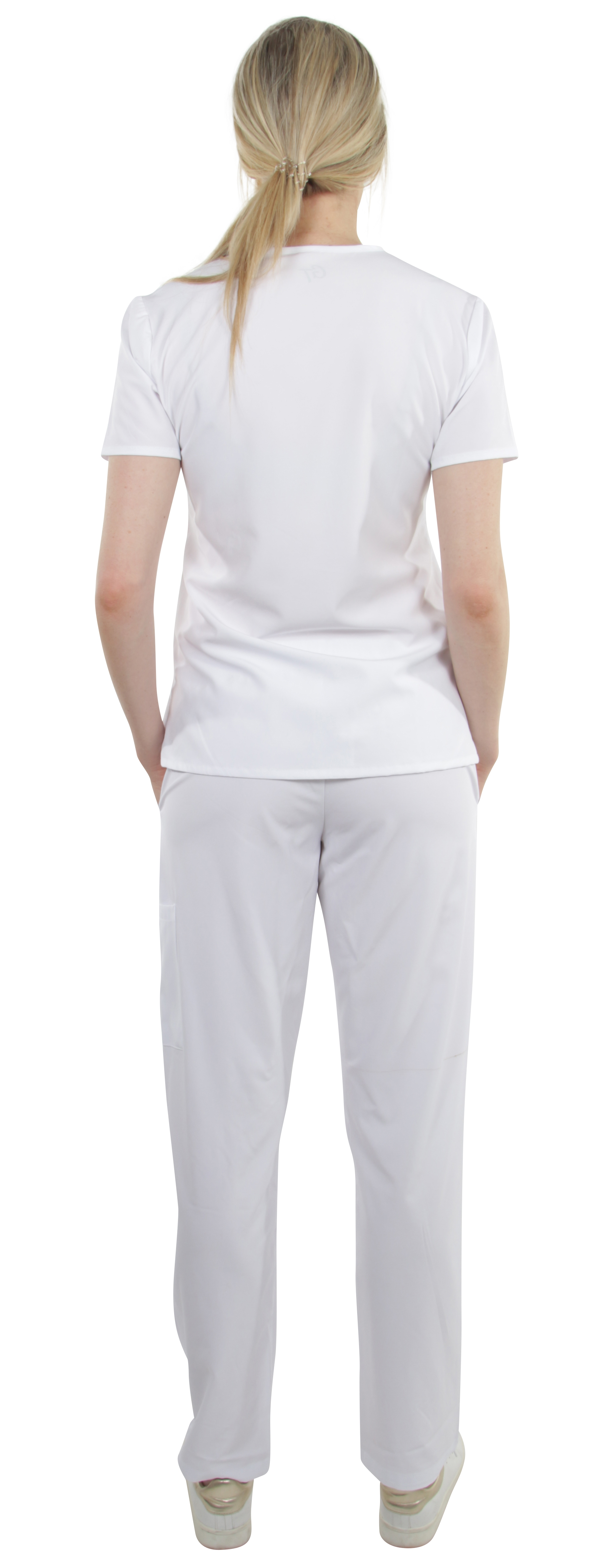 Unisex-Stretch-Medical-Uniform-Five-Pockets-V-Neck-Scrubs-Sets-with-Side-Panels thumbnail 50