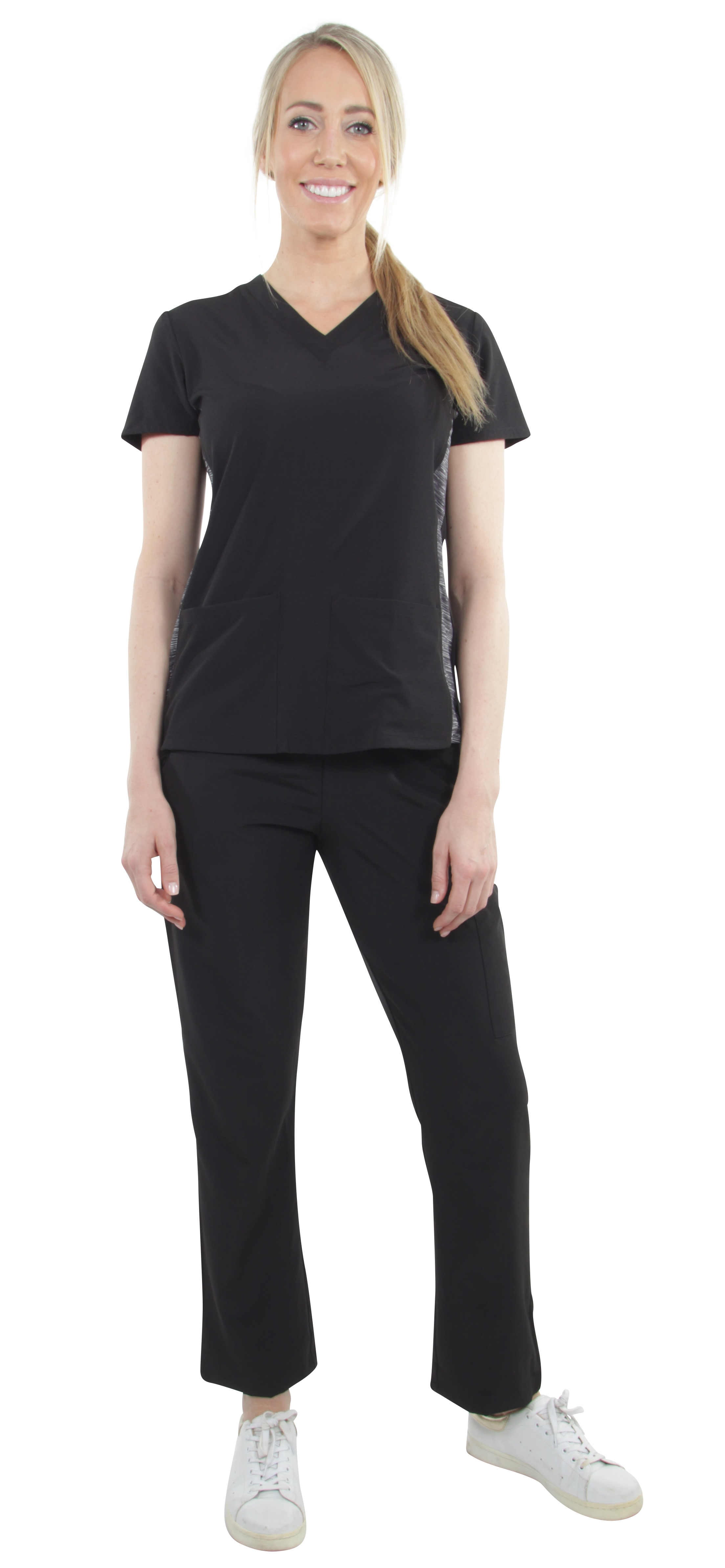 Unisex-Performance-Stretch-Medical-Uniform-Five-Pockets-V-Neck-Scrubs-Sets miniature 15