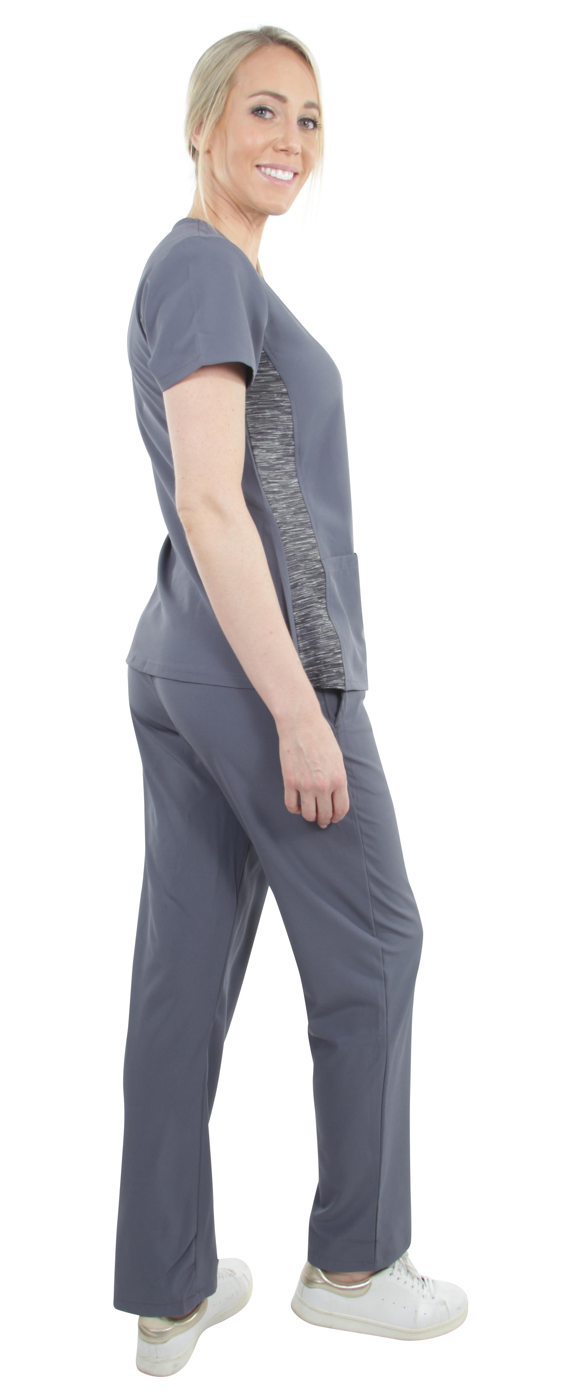 Unisex-Performance-Stretch-Medical-Uniform-Five-Pockets-V-Neck-Scrubs-Sets miniature 25