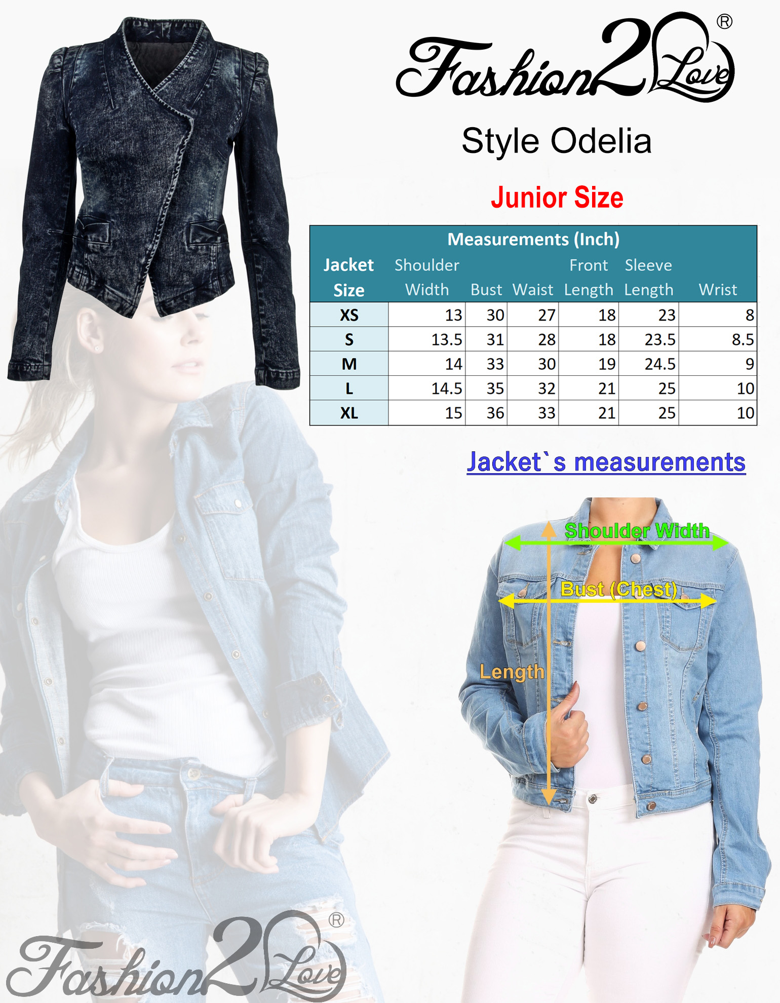 Women-039-s-Juniors-Long-Sleeve-Denim-Blazer-Fitted-Jacket thumbnail 16