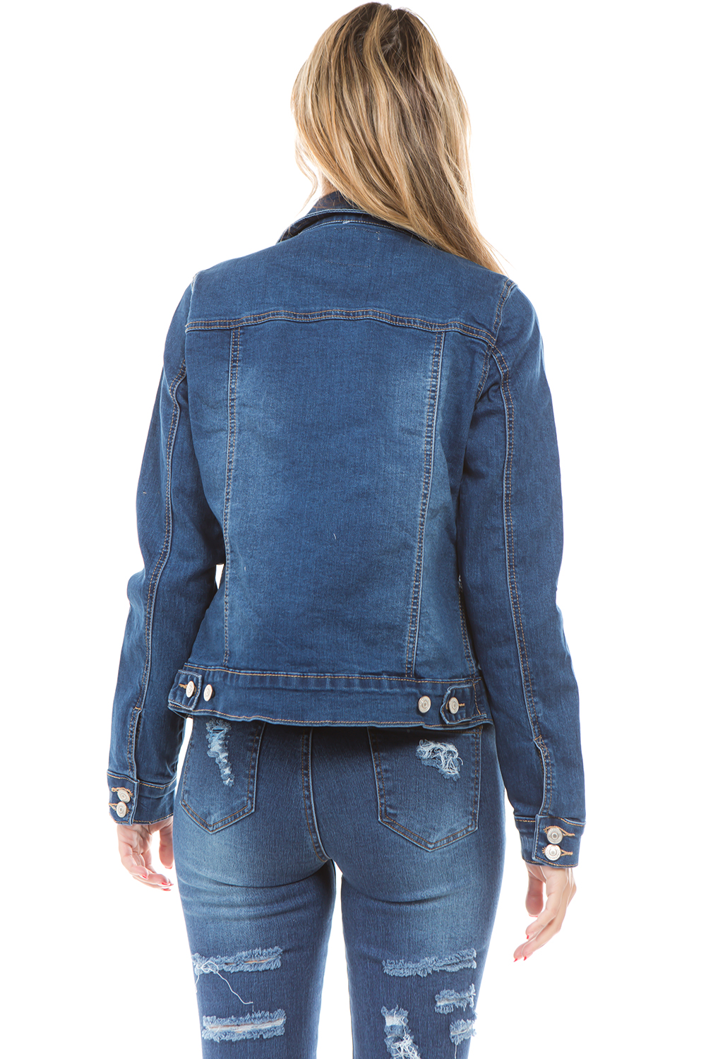 Women-039-s-Juniors-Boyfriend-Premium-Denim-Jackets-Long-Sleeve-Jean-Coats thumbnail 11