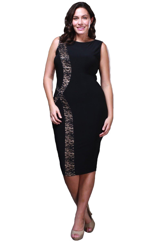 Fashion Love Plus Size Royal Lilac Dress