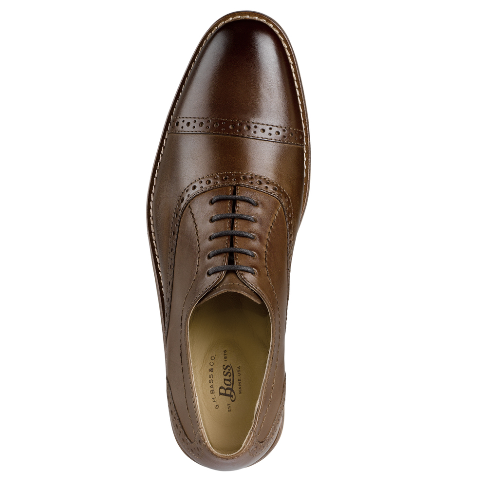 G-H-Bass-amp-Co-Mens-Carnell-Genuine-Leather-Brogued-Cap-Toe-Lace-up-Oxford-Shoe thumbnail 14