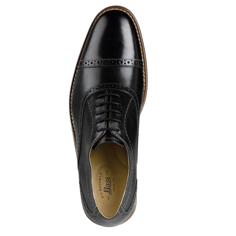 G-H-Bass-amp-Co-Mens-Carnell-Genuine-Leather-Brogued-Cap-Toe-Lace-up-Oxford-Shoe thumbnail 8
