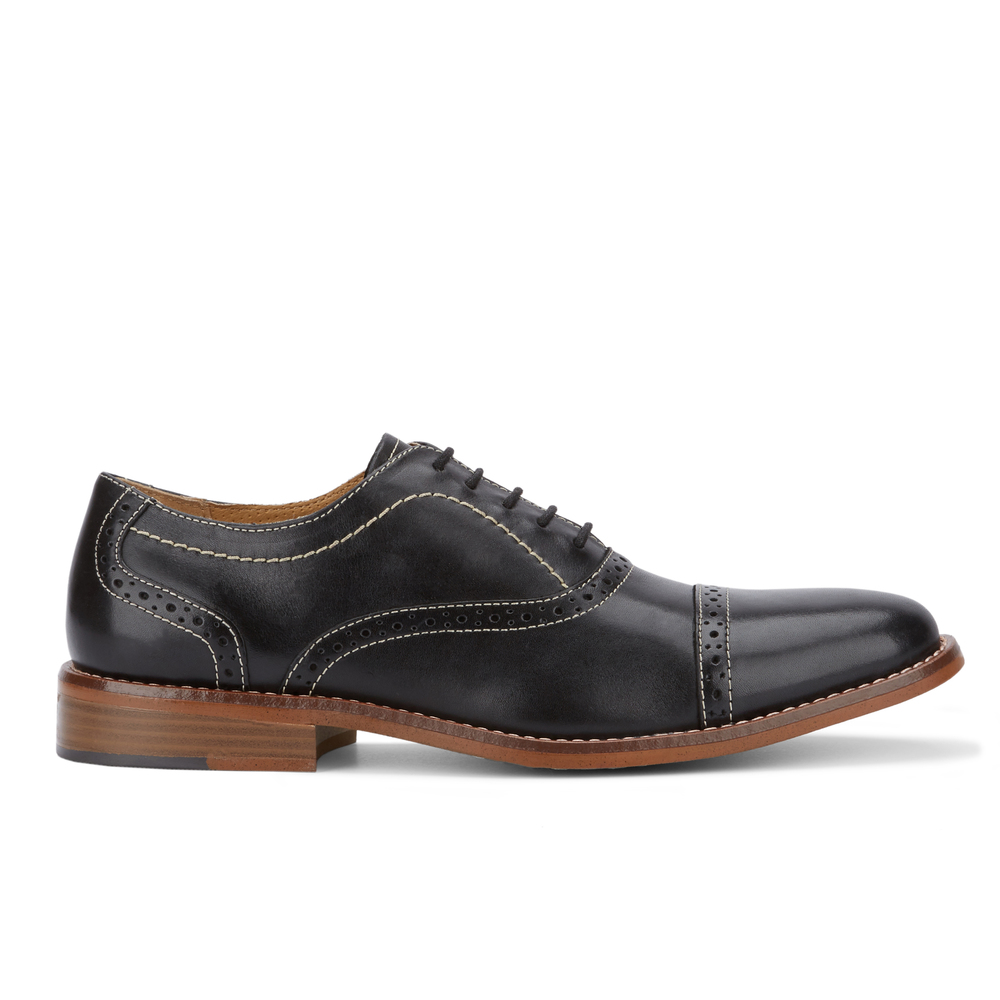 G-H-Bass-amp-Co-Mens-Carnell-Genuine-Leather-Brogued-Cap-Toe-Lace-up-Oxford-Shoe thumbnail 12