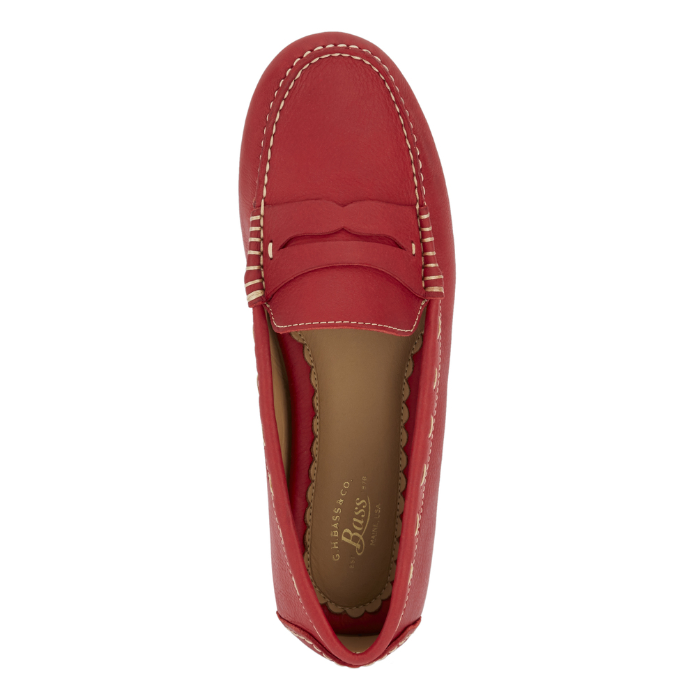 G-H-Bass-amp-Co-Womens-Patricia-Genuine-Leather-Driving-Slip-on-Loafer-Shoe