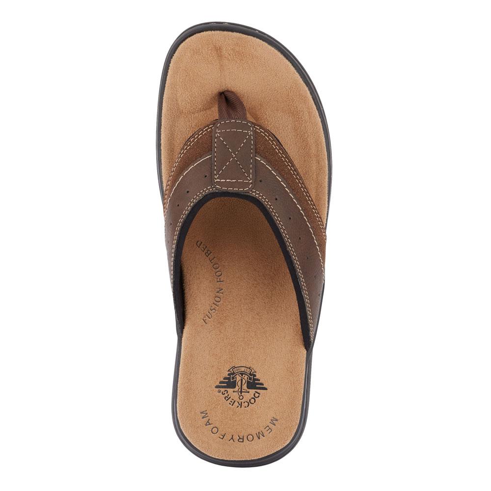4e6b97705b18 Dockers Mens Laguna Casual Comfort Outdoor Flip-Flop Thong Sandal ...