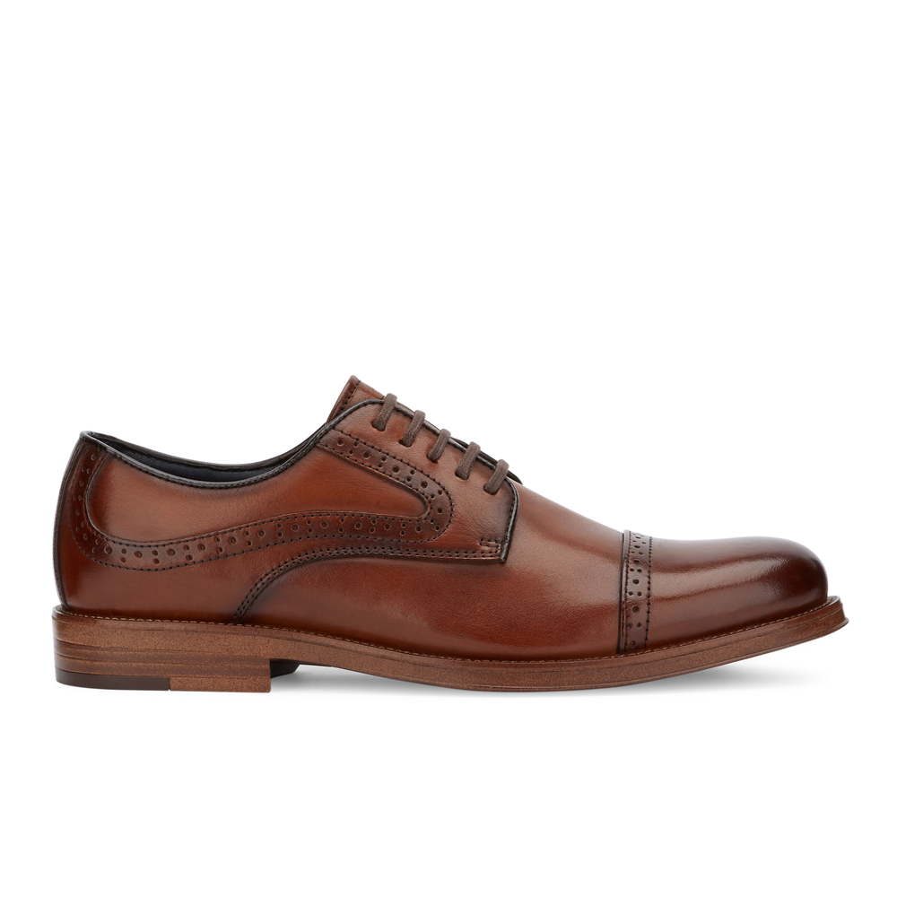 G-H-Bass-amp-Co-Mens-Tinton-Genuine-Leather-Dress-Cap-Toe-Lace-up-Oxford-Shoe