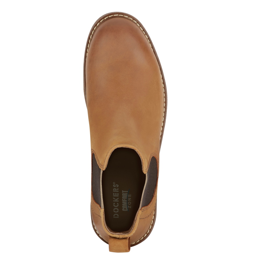 Dockers-Mens-Stanwell-Leather-Gored-Slip-on-Chelsea-Boot thumbnail 20