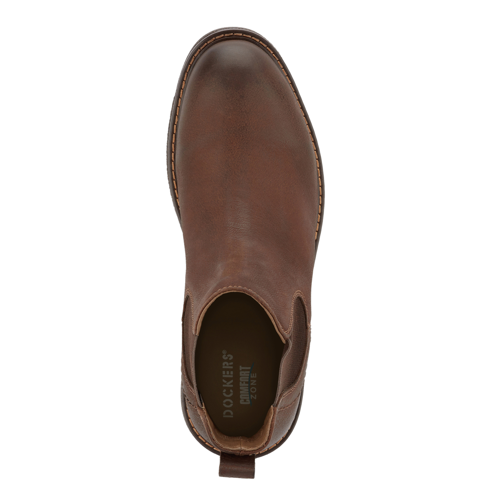 Dockers-Mens-Stanwell-Leather-Gored-Slip-on-Chelsea-Boot thumbnail 14