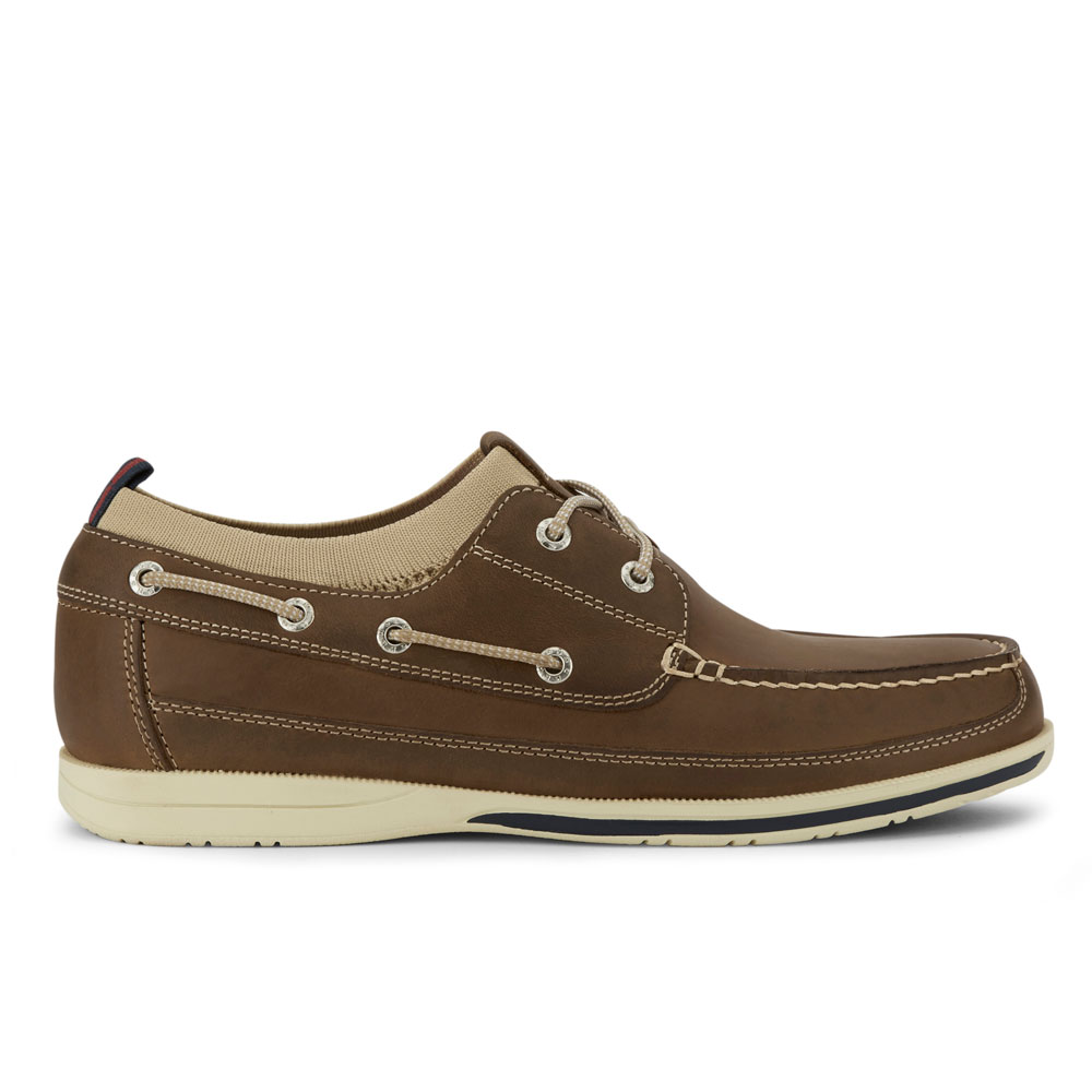 Dockers-Mens-Homer-SMART-SERIES-Leather-Boat-Shoe-4-Way-Stretch-and-NeverWet thumbnail 18