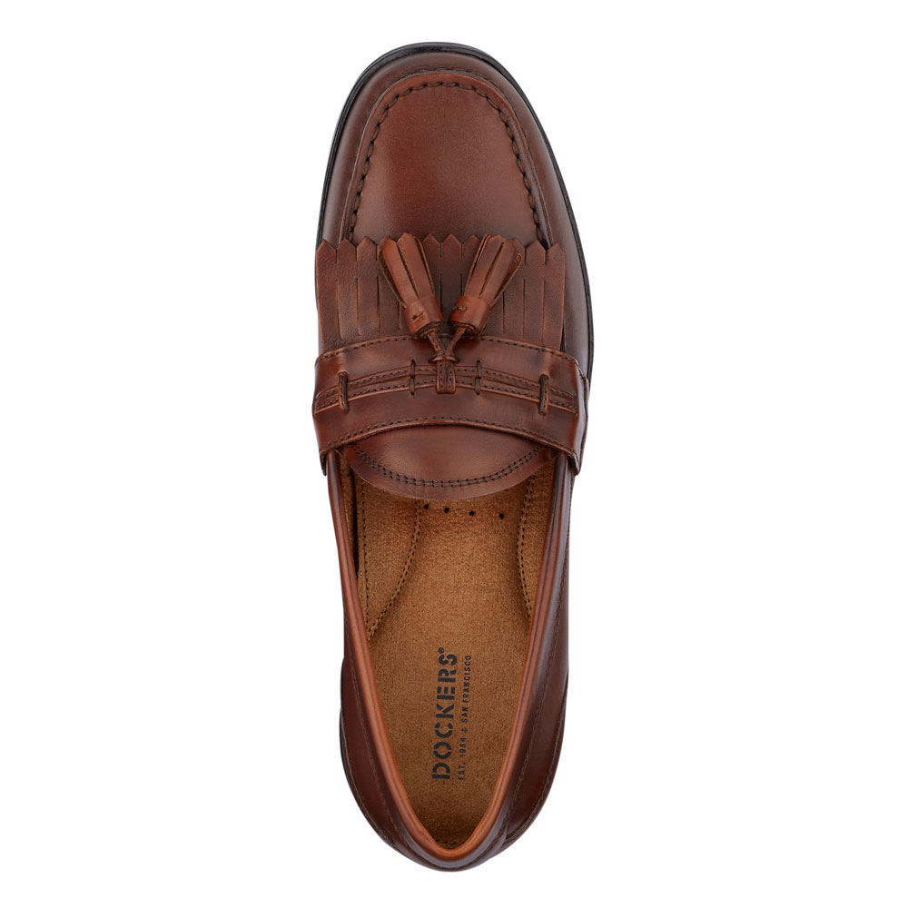 Dockers-Mens-Landrum-Genuine-Leather-Dress-Casual-Tassel-Slip-on-Loafer-Shoe thumbnail 8
