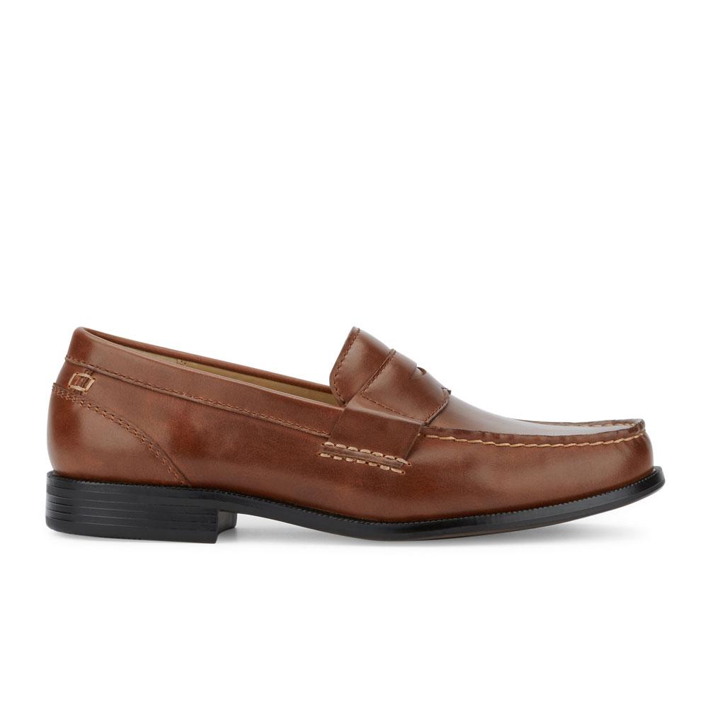 d3ae75ee71e DOCKERS Men s Colleague Slip-on Rubber Sole Penny Loafer Shoe Tan ...