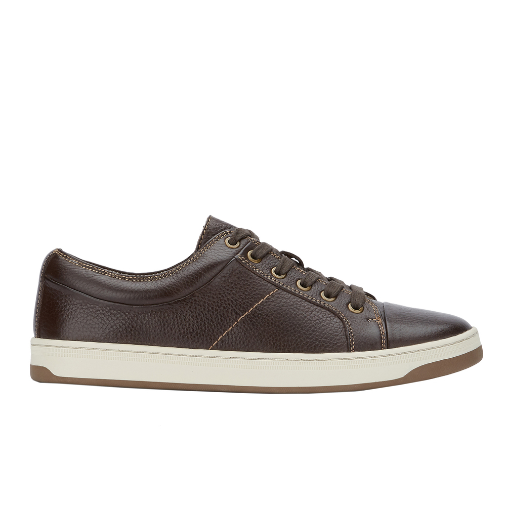 Dockers Norwalk Fashion Sneaker para hombre, Dark Brown, 8 M US