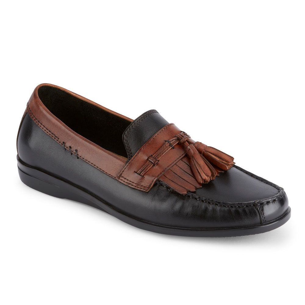 Mens Freestone Slip-On Loafer, Black/Antique Brown, 10.5 M US Dockers