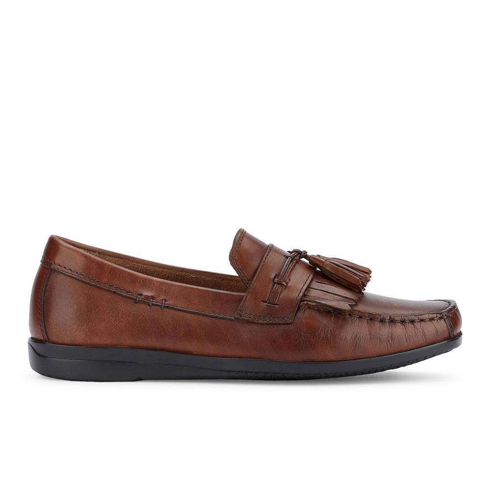 Dockers-Mens-Freestone-Genuine-Leather-Dress-Casual-Tassel-Slip-on-Loafer-Shoe thumbnail 12