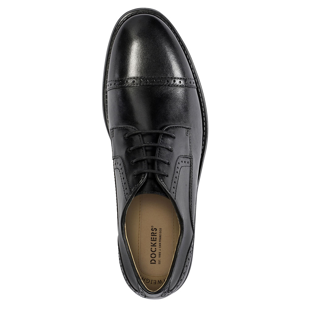 Dockers-Mens-Hawley-Genuine-Leather-Business-Dress-Cap-Toe-Lace-up-Oxford-Shoe thumbnail 8