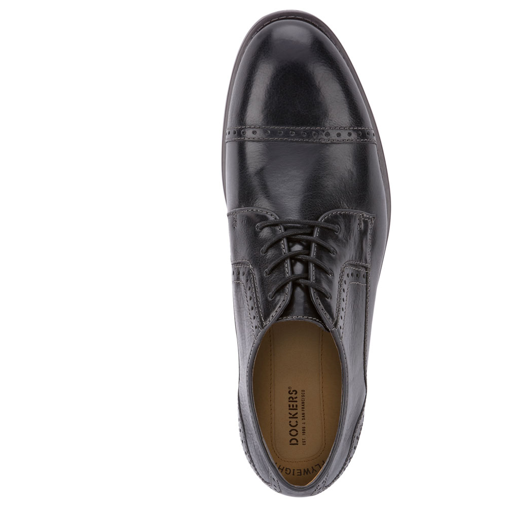 Dockers-Mens-Hawley-Genuine-Leather-Business-Dress-Cap-Toe-Lace-up-Oxford-Shoe thumbnail 14