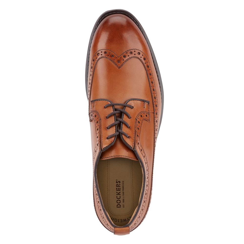 Dockers-Mens-Hausman-Genuine-Leather-Business-Dress-Wingtip-Lace-up-Oxford-Shoe thumbnail 8