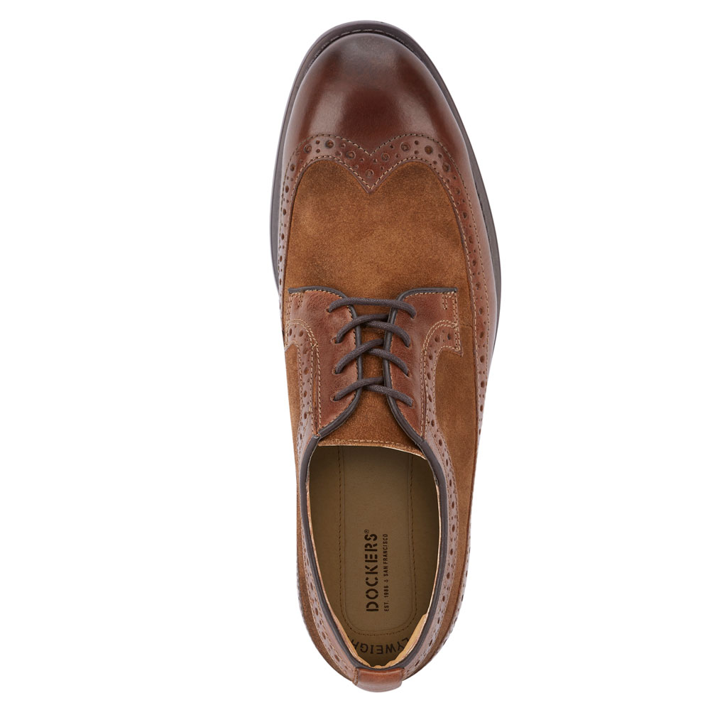 Dockers-Mens-Hausman-Genuine-Leather-Business-Dress-Wingtip-Lace-up-Oxford-Shoe thumbnail 14
