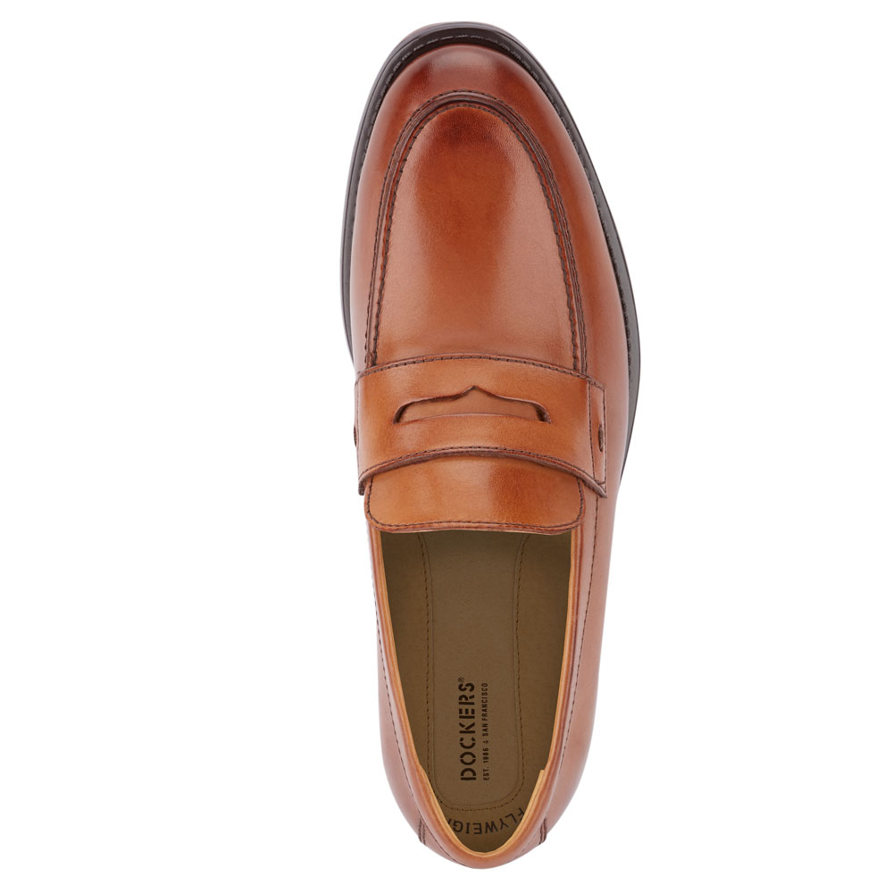 Dockers-Mens-Harmon-Genuine-Leather-Business-Dress-Penny-Slip-on-Loafer-Shoe thumbnail 14