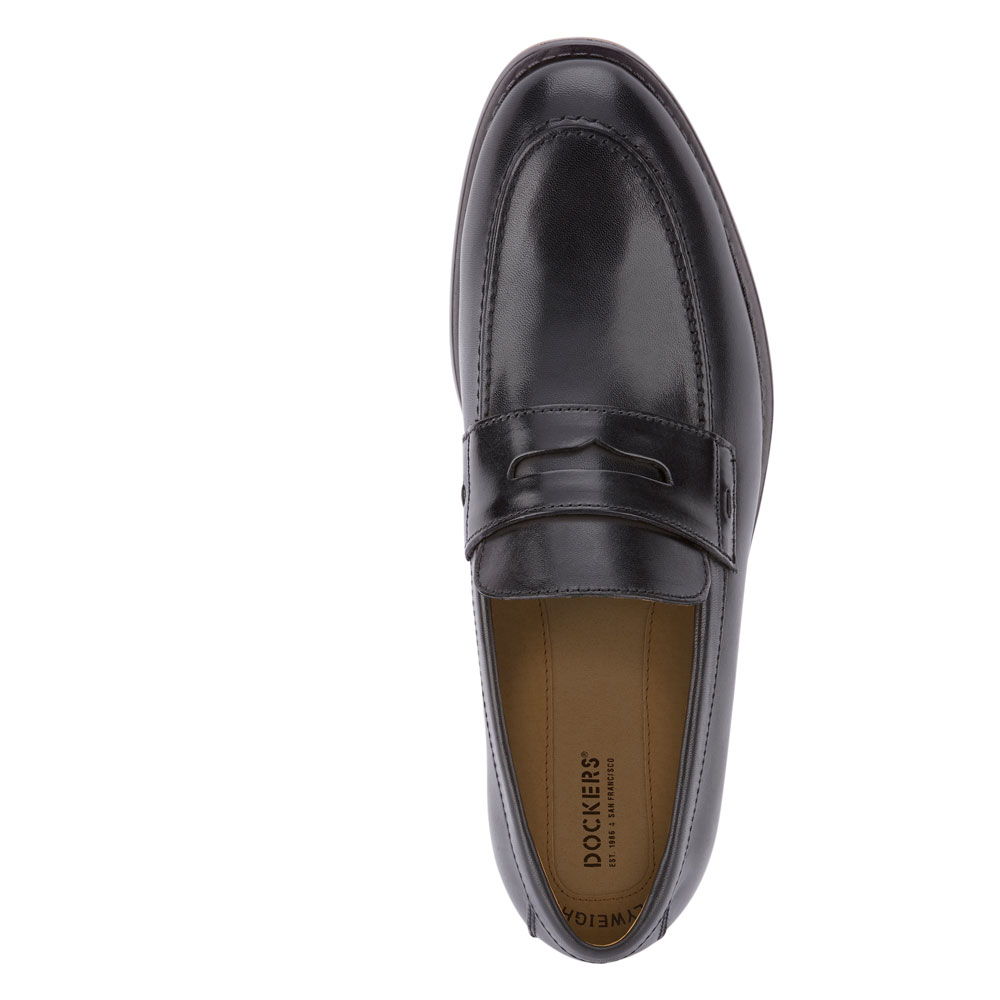 Dockers-Mens-Harmon-Genuine-Leather-Business-Dress-Penny-Slip-on-Loafer-Shoe thumbnail 8