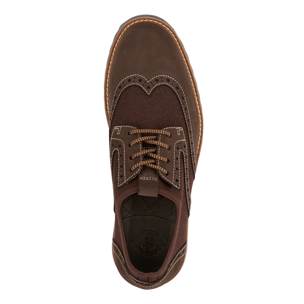 Dockers-Mens-Hawking-Knit-Leather-Dress-Casual-Wingtip-Oxford-Shoe-with-NeverWet thumbnail 14