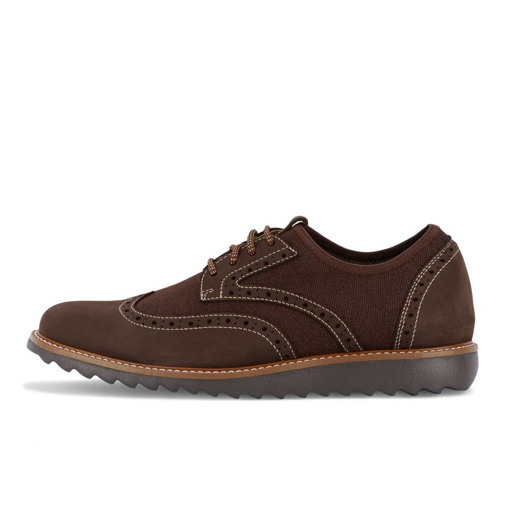 Dockers-Mens-Hawking-Knit-Leather-Dress-Casual-Wingtip-Oxford-Shoe-with-NeverWet thumbnail 17