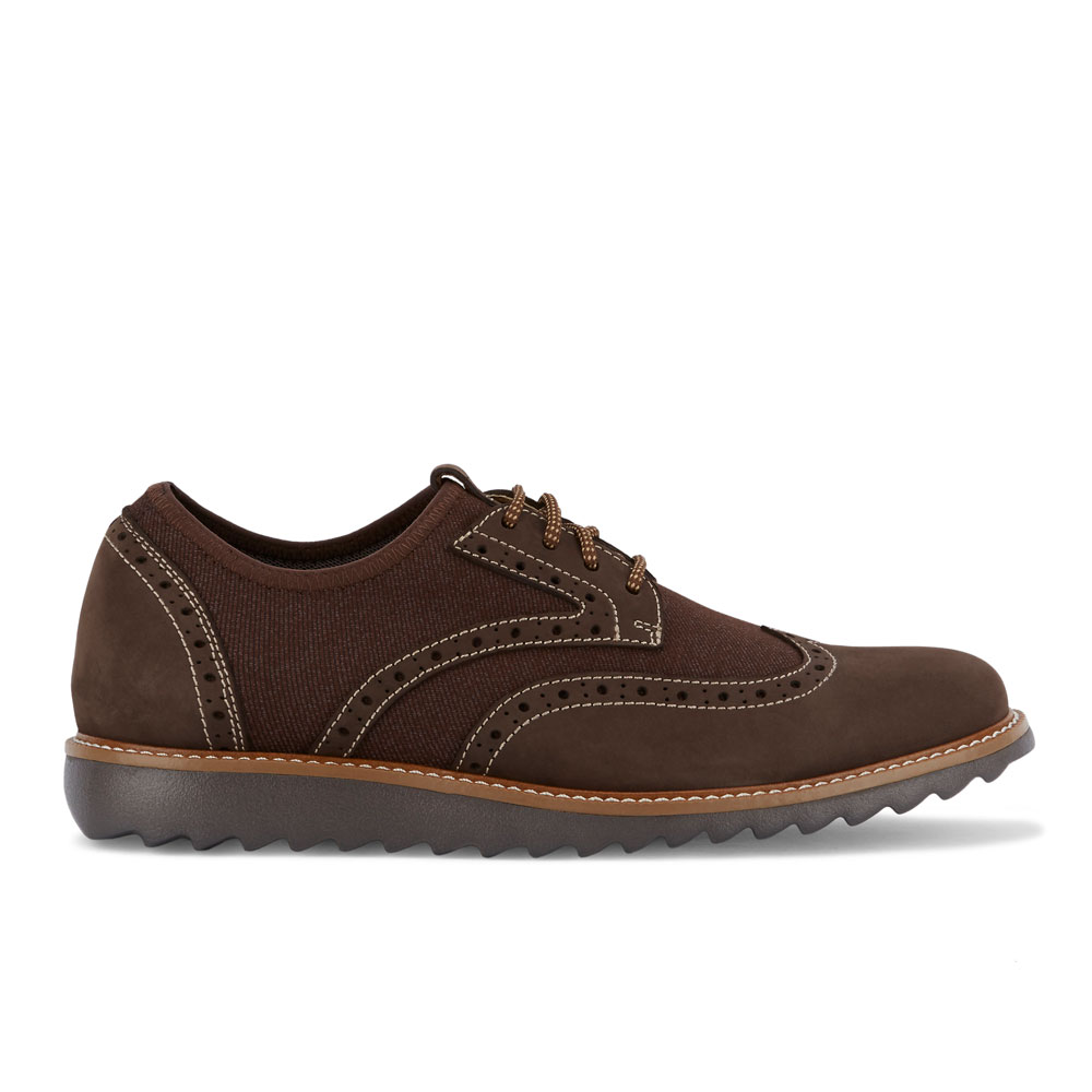 Dockers-Mens-Hawking-Knit-Leather-Dress-Casual-Wingtip-Oxford-Shoe-with-NeverWet thumbnail 18